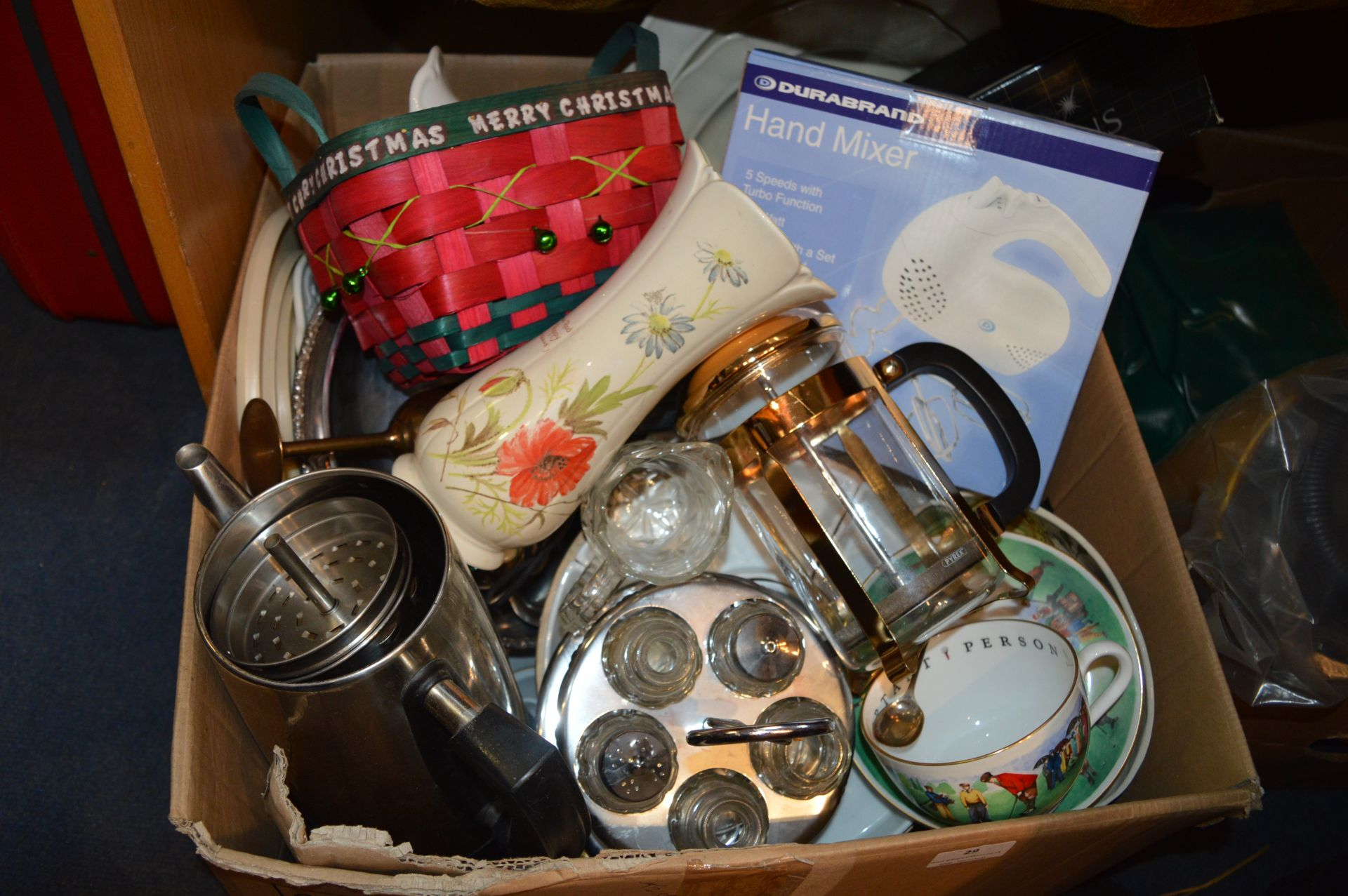 Lot 29 - Large Box of Glass and Pottery Items, Kitchenware,