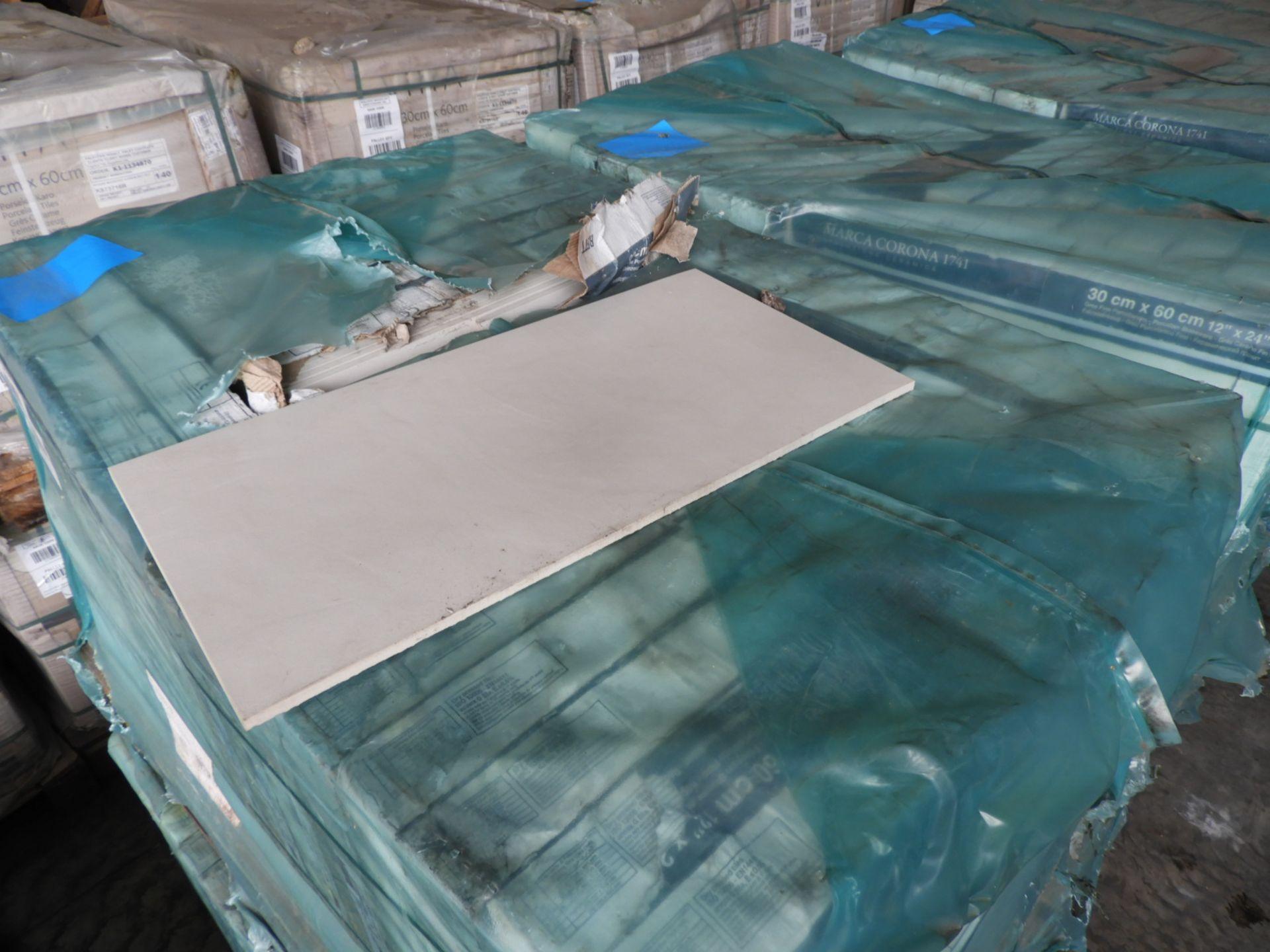 "Lot 37 - *Pallet Containing 20 Packs of Six Marca Corona ""1741"" 30x60cm White Ceramic Tiles"