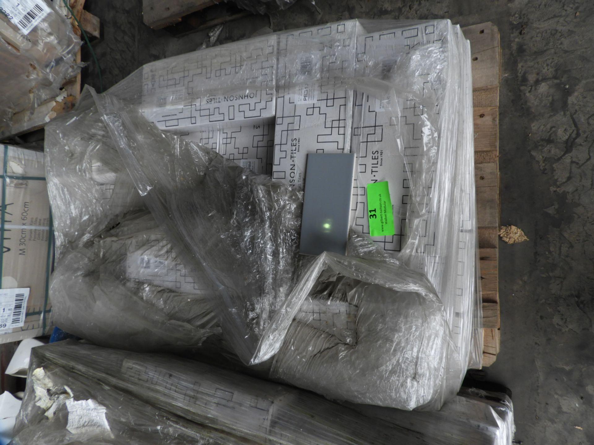 Lot 31 - *Twenty One Boxes of Fifty 20x10cm Hawk Grey Ceramic Tiles