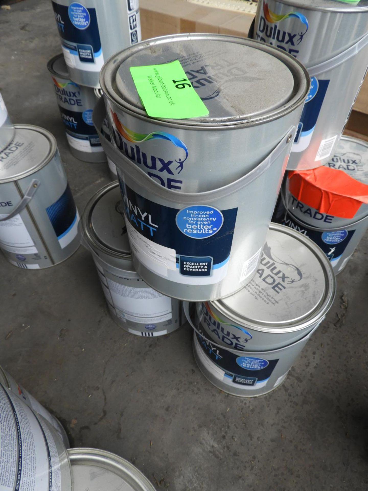 "Lot 16 - *3x 5L of Dulux Trade Vinyl Matt Emulsion ""Blue Circle"""