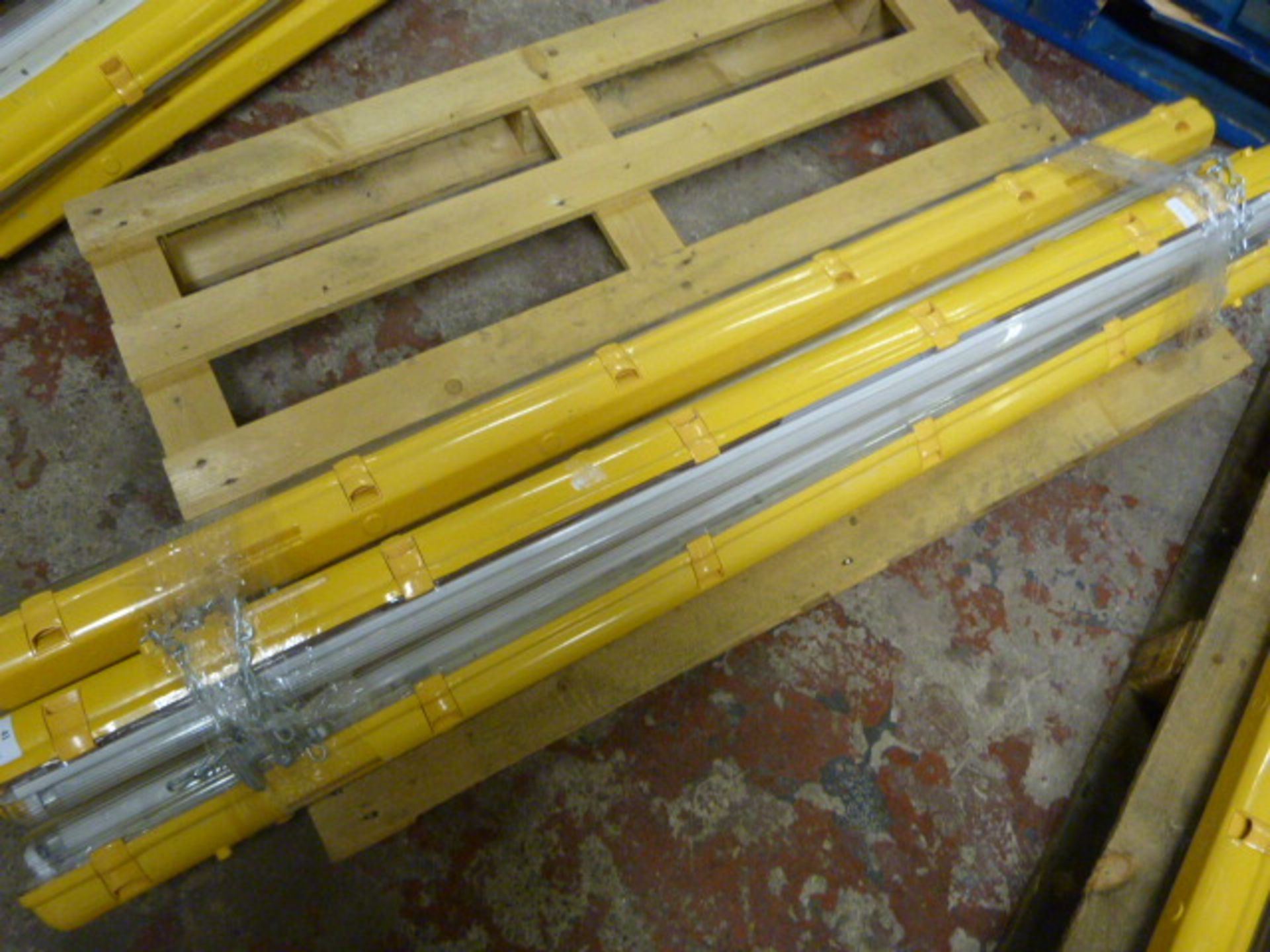 Lot 41 - *Four 5ft Industrial Site Lamps