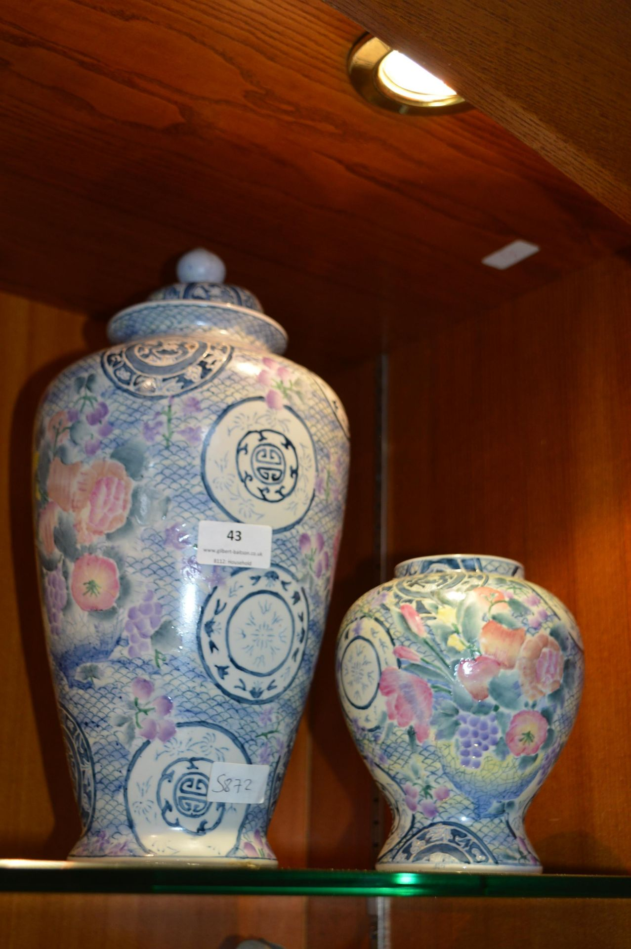 Lot 43 - Chinese Style Covered Jar and One Other