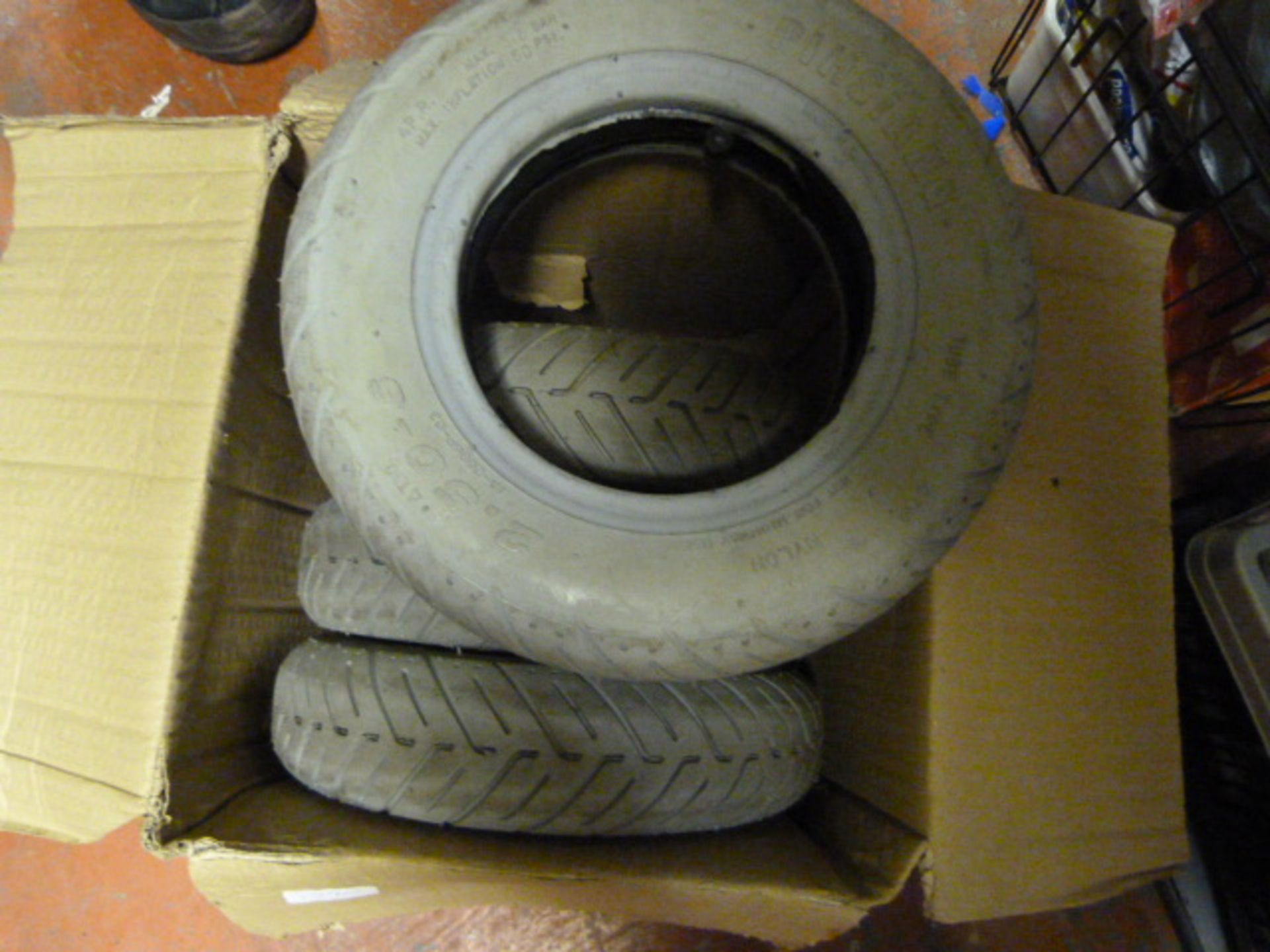 Lot 133 - Four Mobility Scooter Tyres
