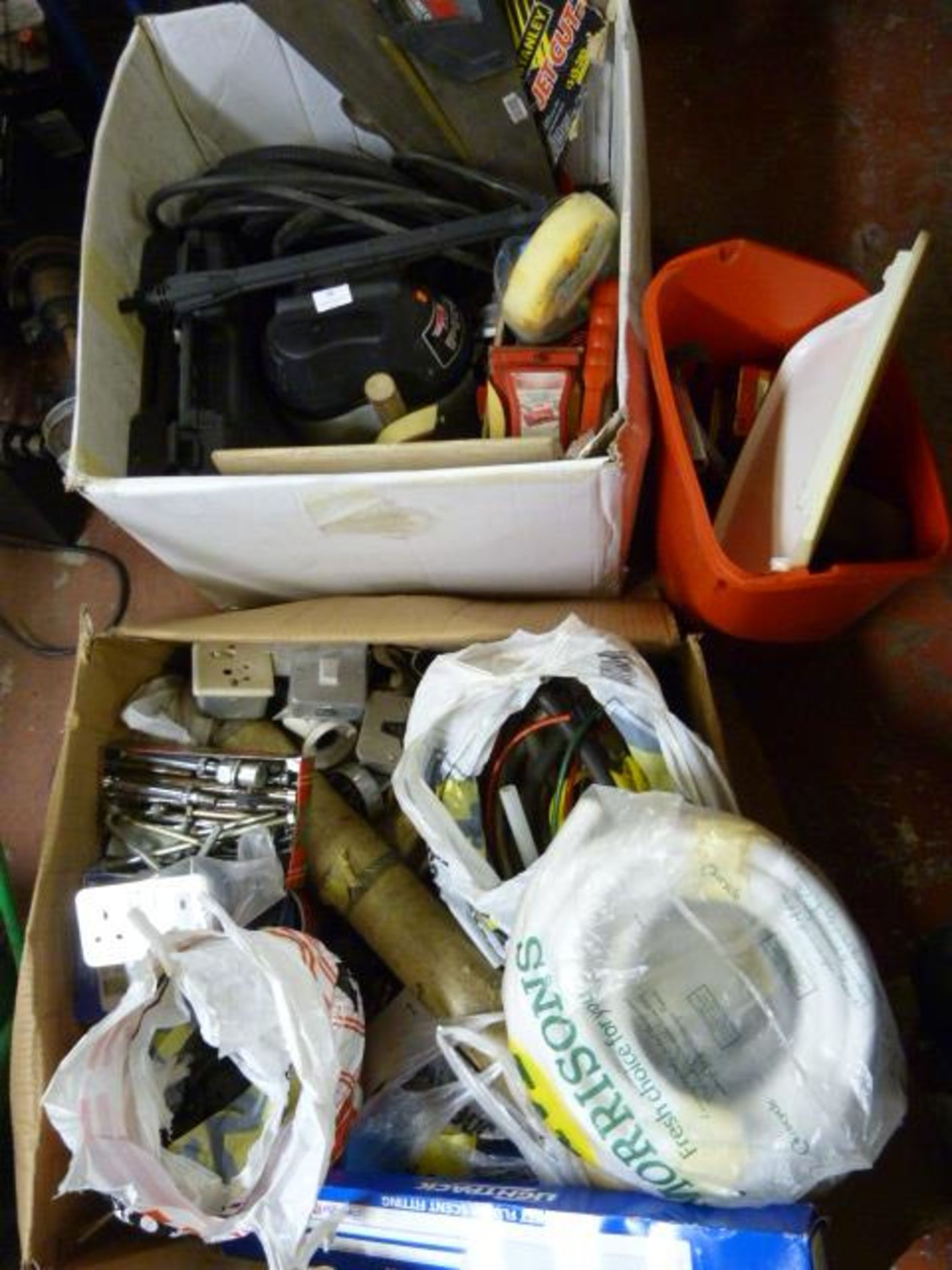 Lot 31 - Two Large Boxes of Tools and Fittings Including Sa