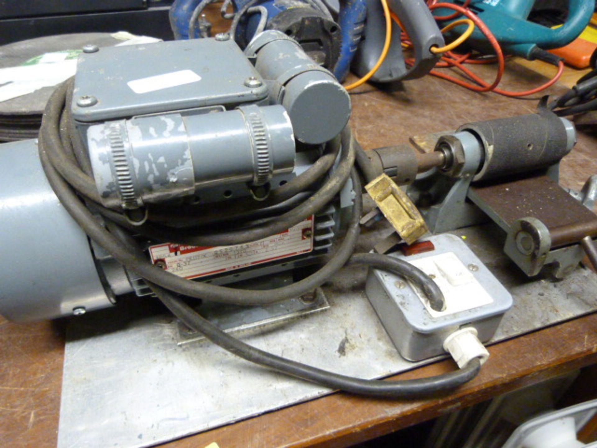 Lot 212 - Adjustable Electric Sander (Homemade?)