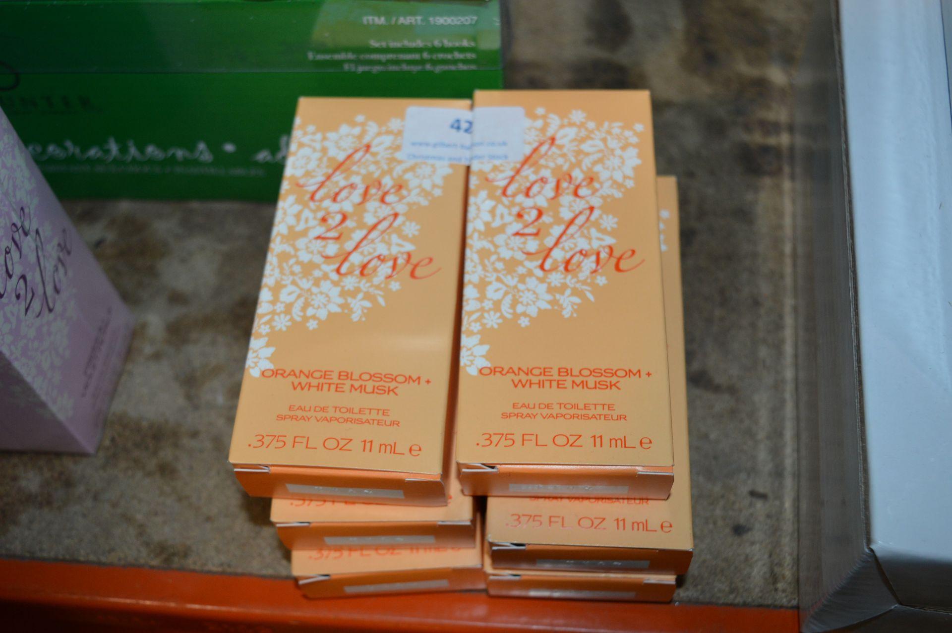 Lot 42 - *Love to Love Orange Blossom & White Musk Spray x6