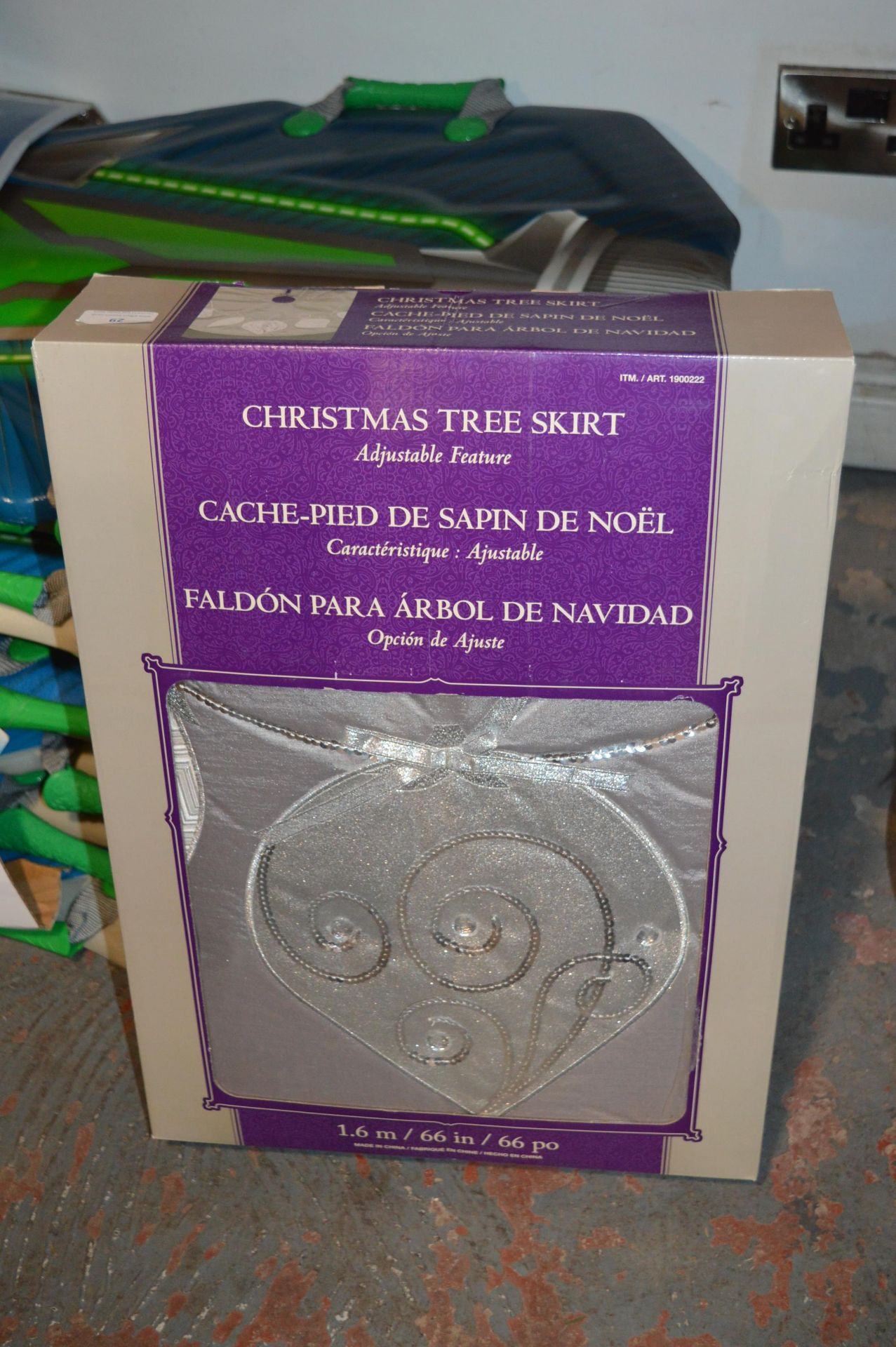 Lot 29 - *Christmas Tree Skirt (Silver) 1.6m