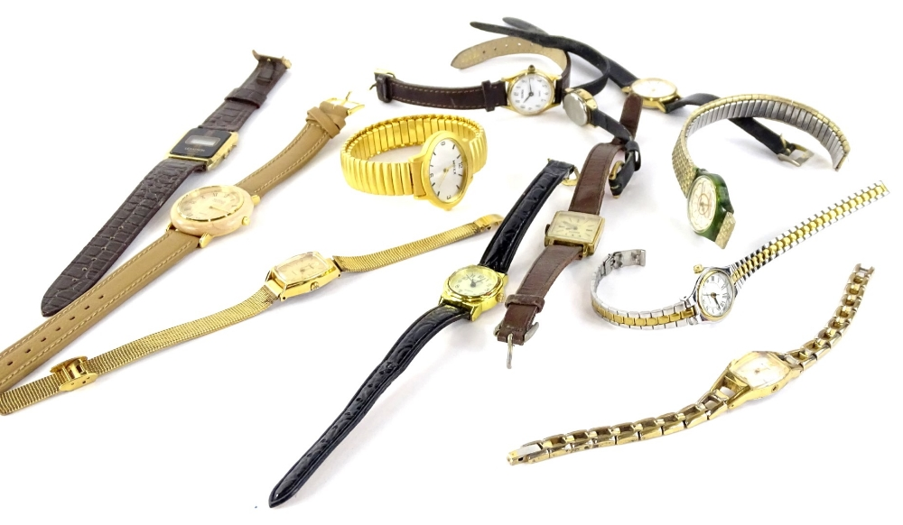 Lot 253 - A quantity of modern ladies and gent's wristwatches, to include Morris, Sekonda, Lex, Astron, Timex,