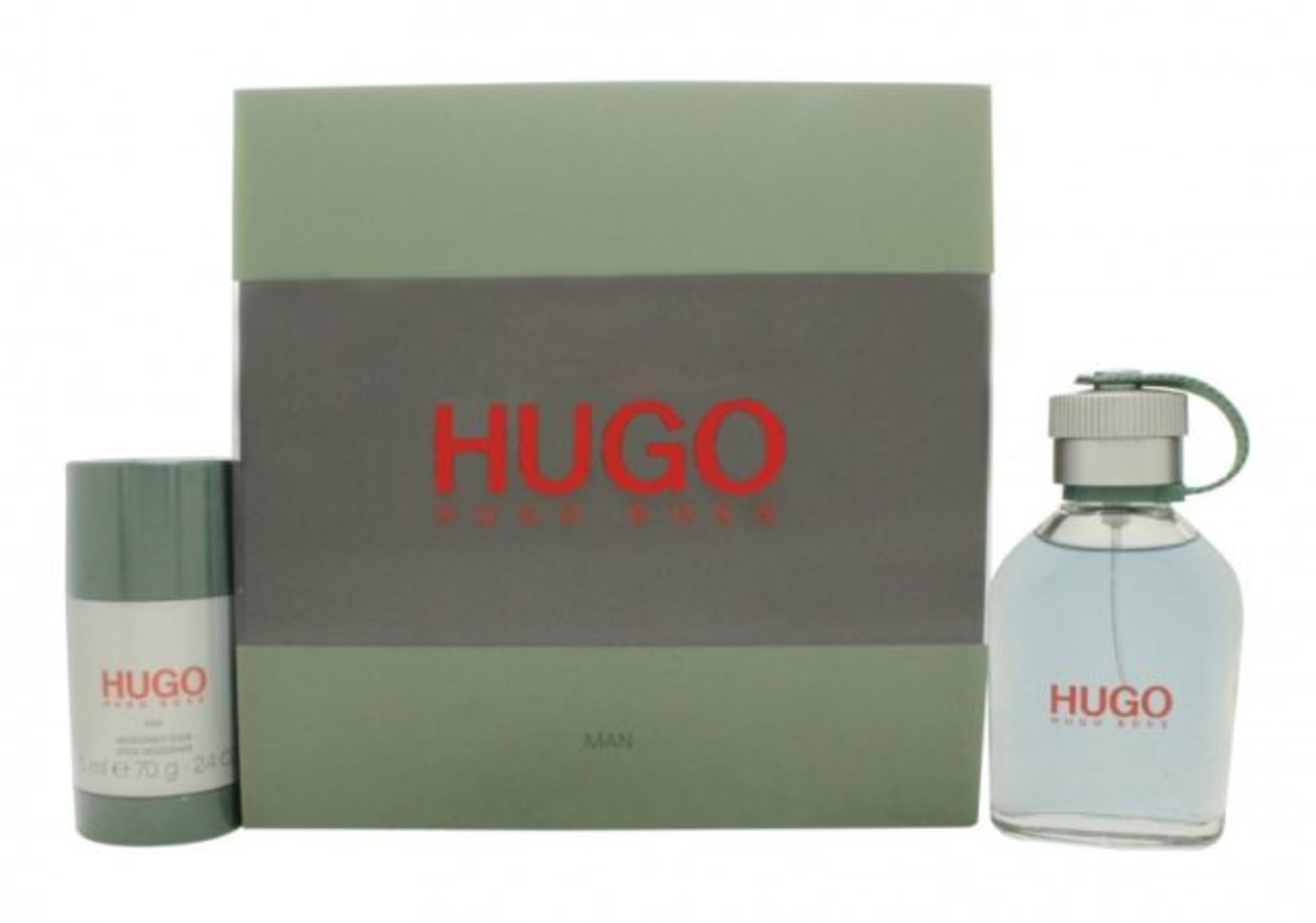 Lot 10106 - V Brand New Gents Hugo Boss Man Gift Set - 75ml Eau De Toilette Spray And Deodorant Stick