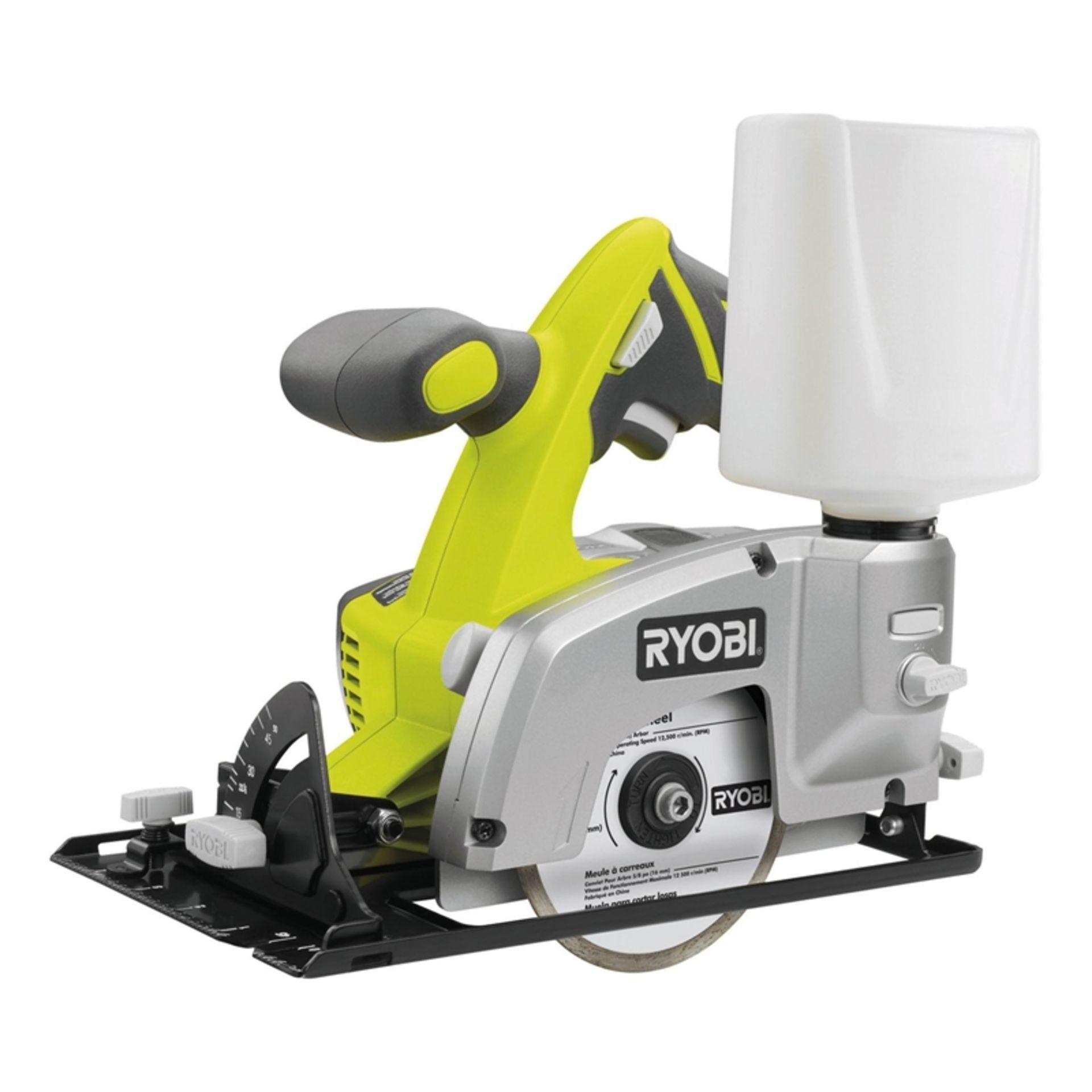 Lot 10075 - V Brand New Ryobi LTS180M 18v Diamond Blade Tile Saw - Bare Unit - ISP £97 (Homebase)