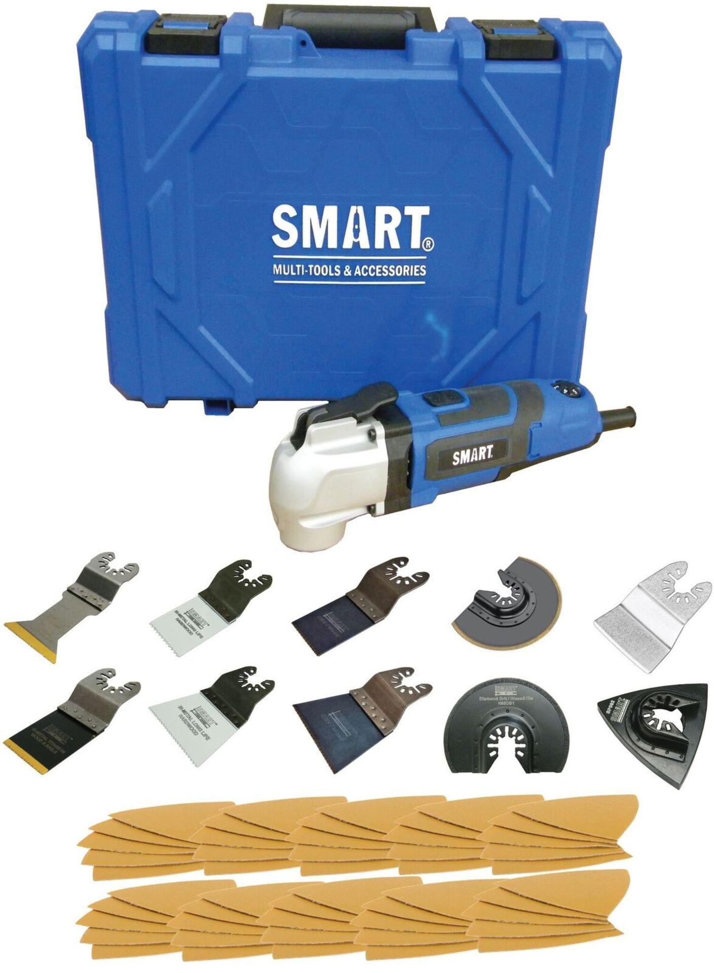 Lot 10091 - V Brand New Smart High Torque Multi Tool SMT300PL Kit - 300 Watt Motor - Tool-Less Blade Changed