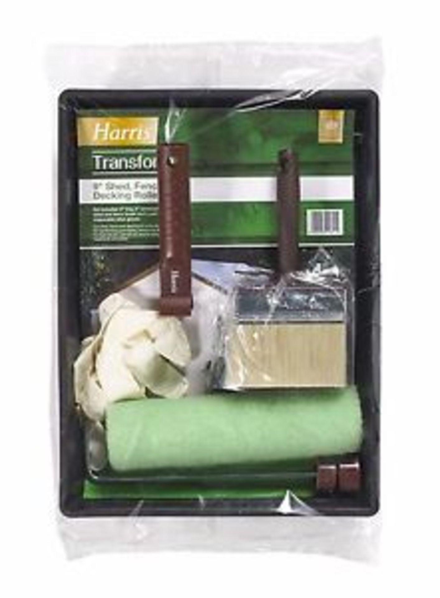 """Lot 10093 - V Brand New Harris Transform 9"""" Shed/Fence 7 Decking Roller Kit"""