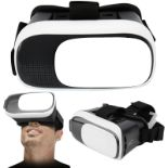 Lot 10074 - V Brand New VR Virtual Reality Glasses Headset - Padded Section On Goggles - Sliding Viewing Section