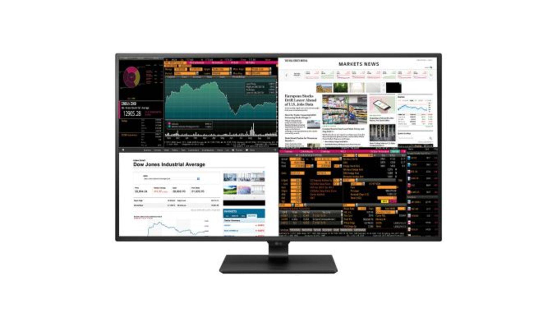Lot 16023 - V Grade A LG 43 Inch 4K ULTRA HD IPS LED MONITOR - HDMI, DISPLAY PORT, USB TYPE C - SPEAKERS