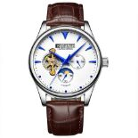 V Brand New Barkers Of Kensington Gents Limited Edition Automatic Watch with Blue Hands and