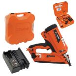 V Brand New Paslode IM350 Plus 90mm 7.4v 2.1Ah Li-ion First Fix Angled Gas Framing Nailer With