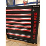 V Brand New Seven Drawer Locking Garage Tool Cabinet With Lockable Casters - Seven EVA Drawers of
