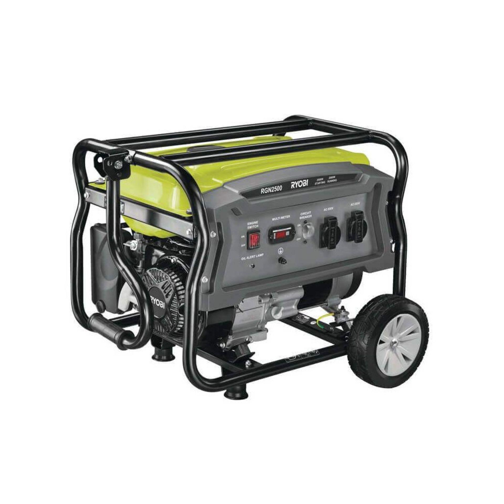 Lot 59054 - V Brand New Ryobi RGN 2500 Generator On Wheels - 208cc - 2.5Kva RRP £399