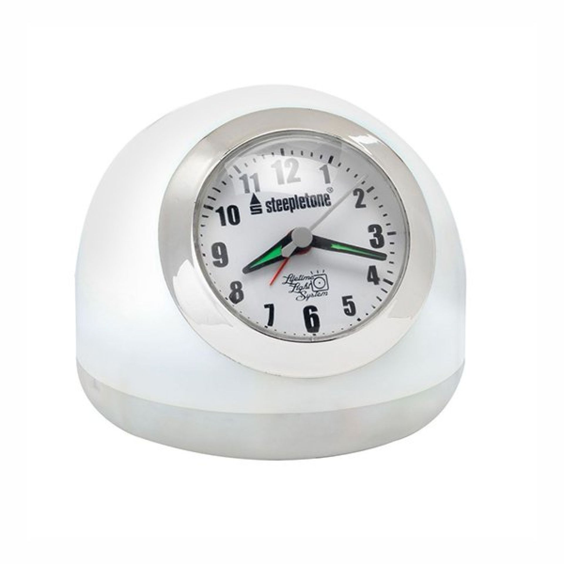 Lot 43017 - V Brand New LED Touch Controlled Clock Alarm With Radio & Touch Control White & Mood Lighting (Radio