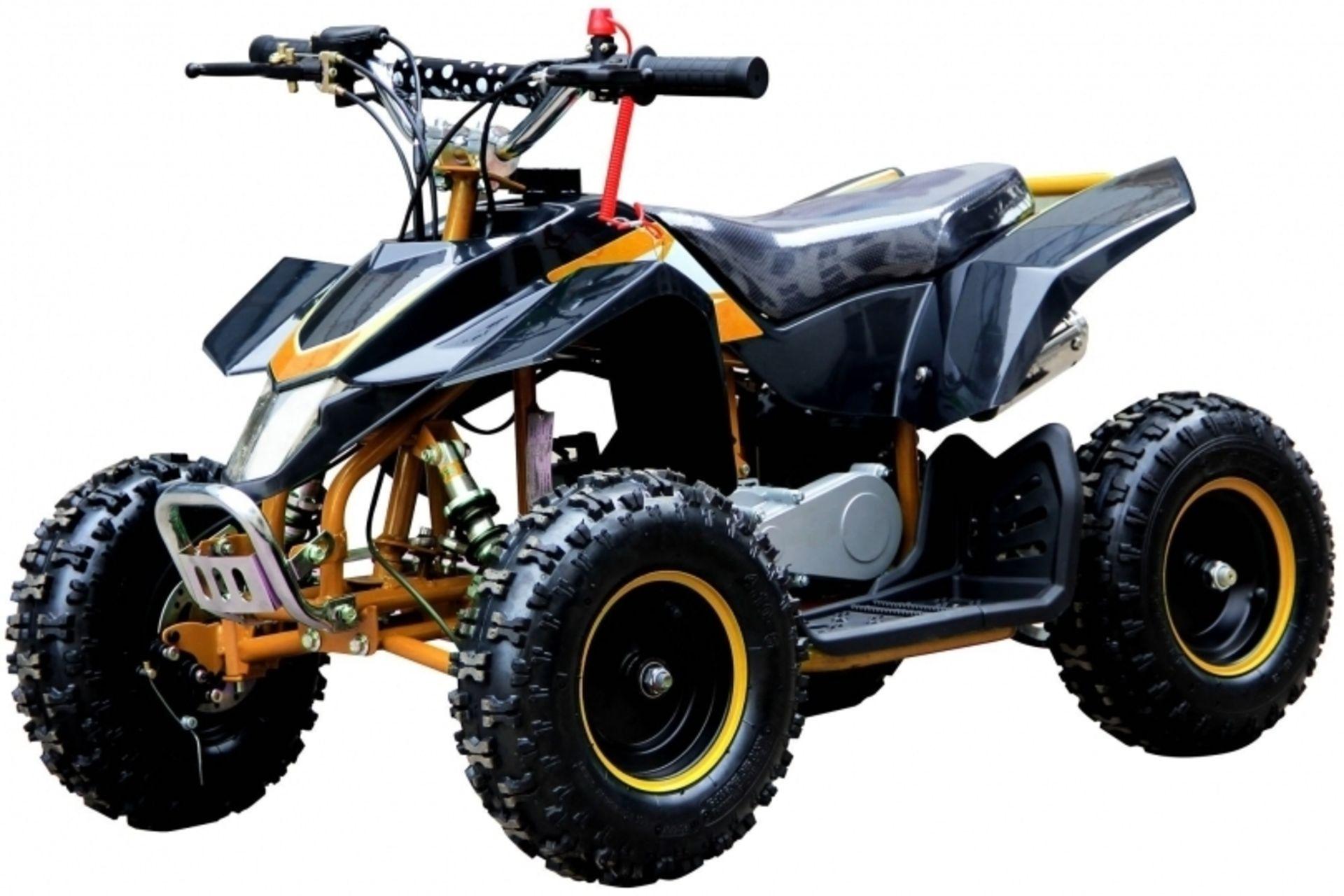 Lot 43018 - V Brand New 50cc Zikai Mini Quad - Colours May Vary