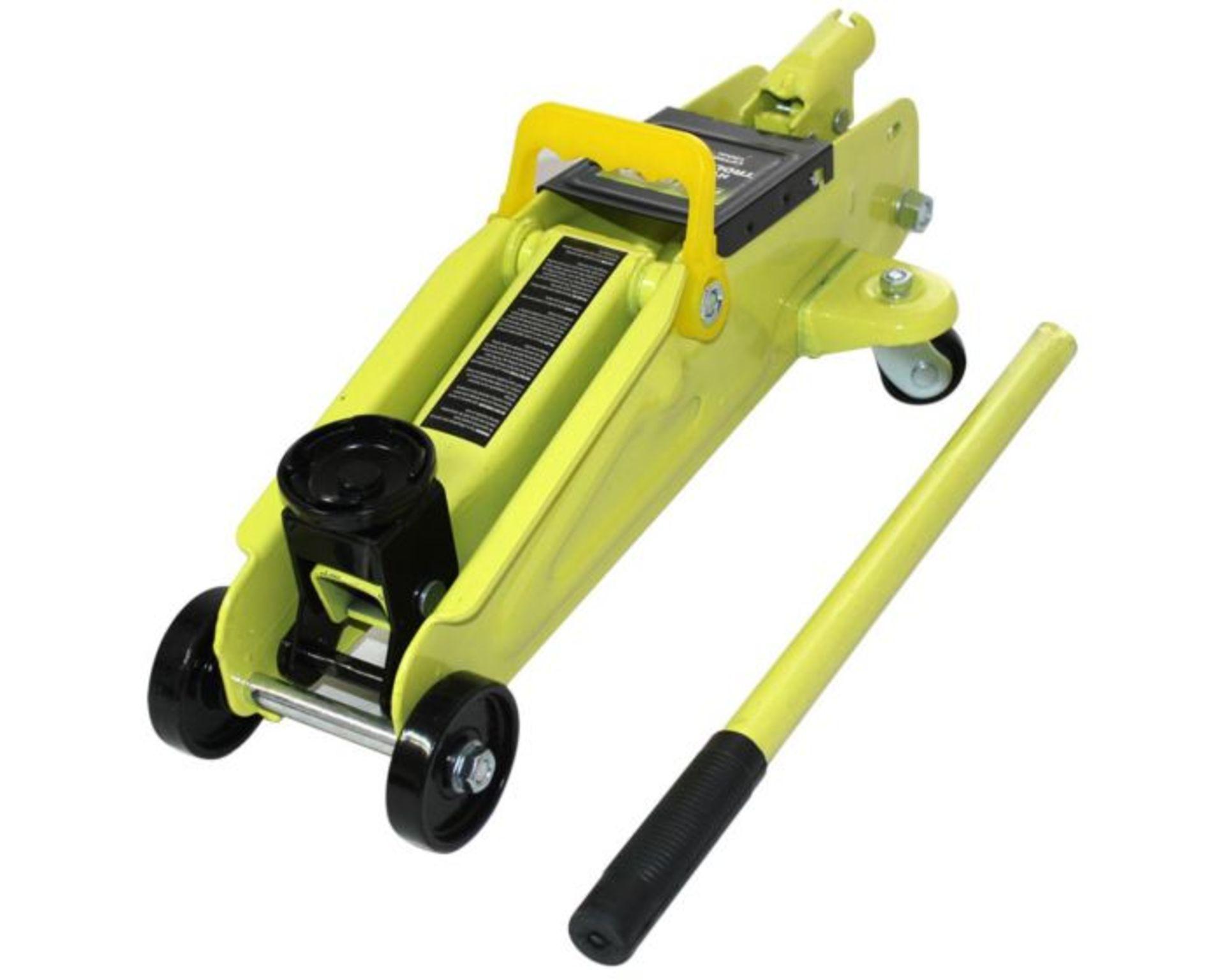 Lot 50018 - V Brand New Montoya Two Ton Hydraulic Trolley Jack