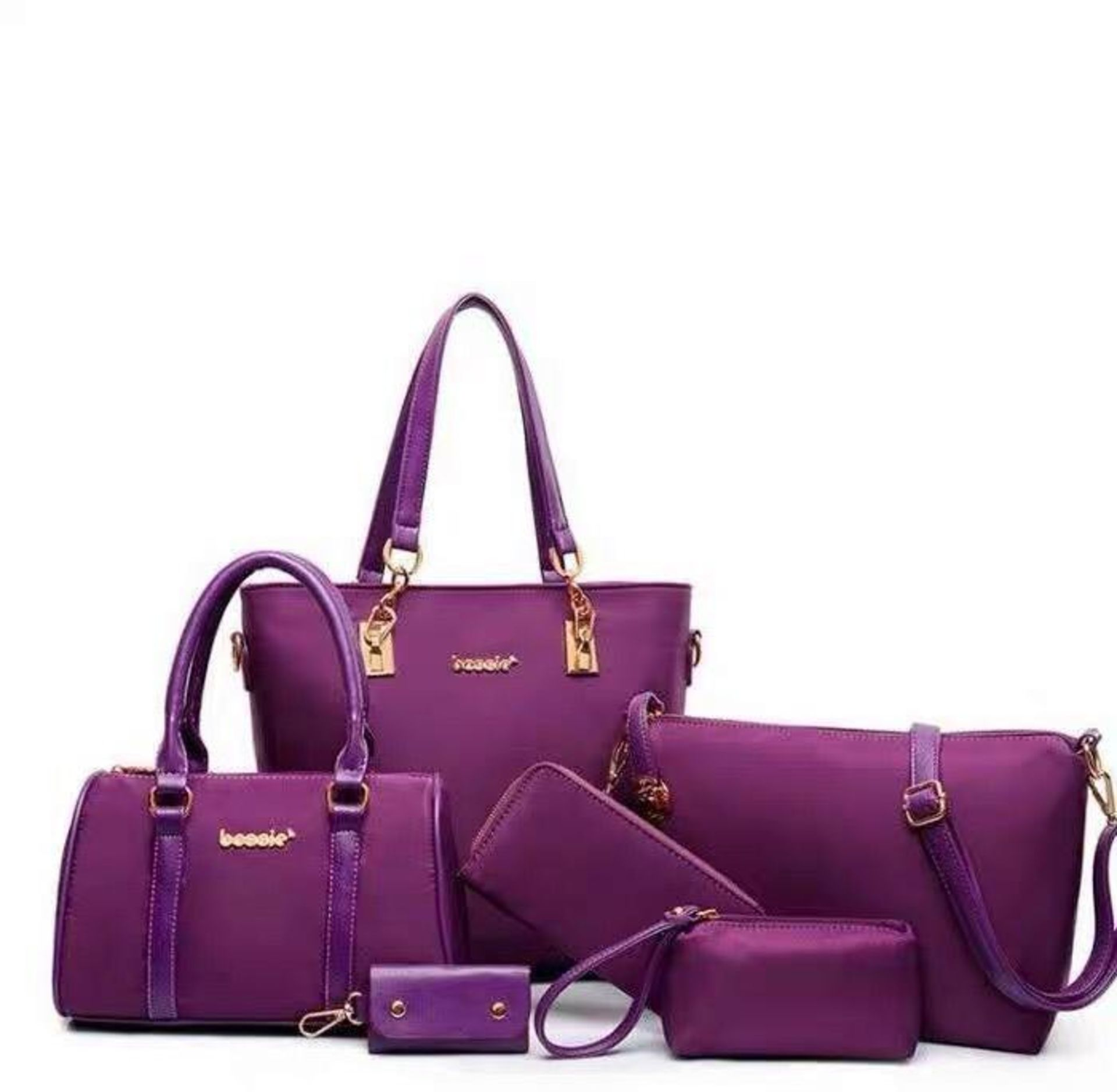 Lot 50023 - Brand New Purple Mei&ge Fashion Six Piece Bag Set