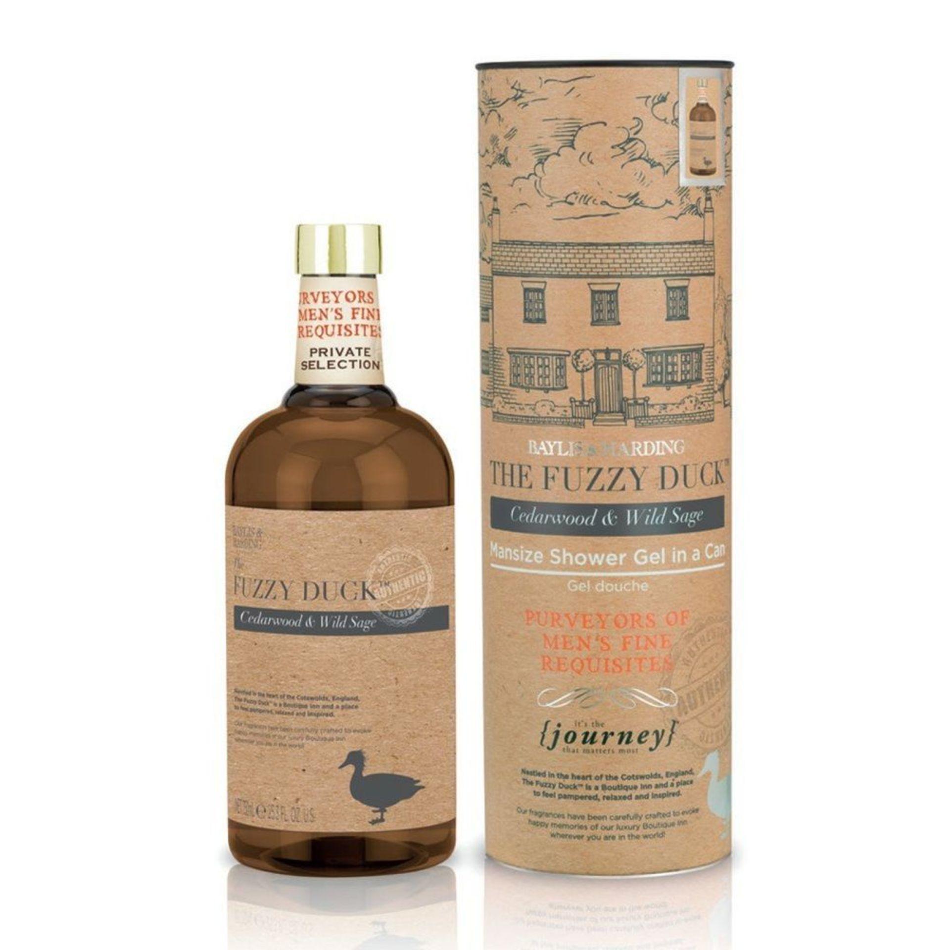 Lot 10053 - V Brand New 750ml Baylis & Harding The Fuzzy Duck Cedarwood & Wild Sage Man-Sized Shower Gel -
