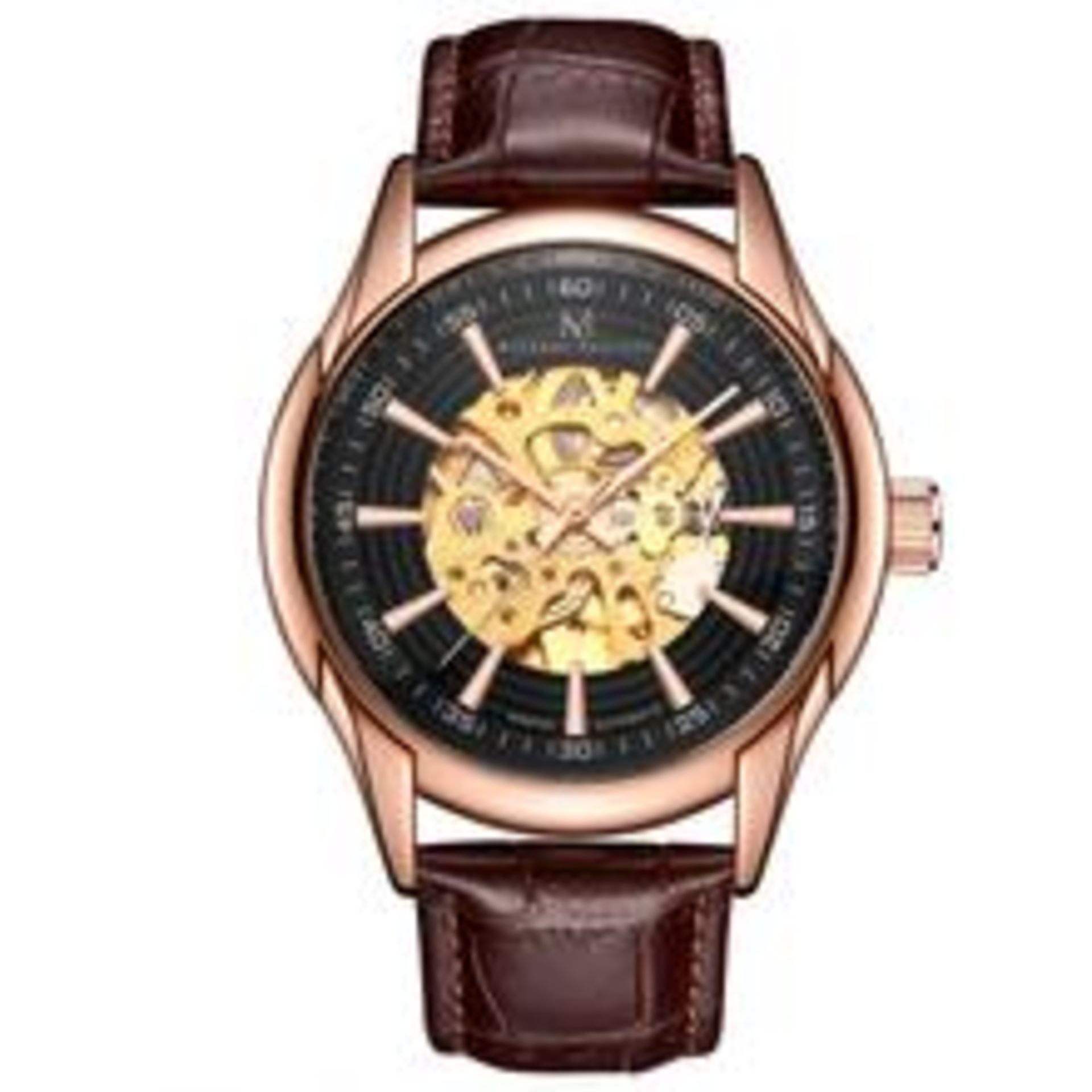 Lot 10001 - V Brand New Michael Philippe Gents Marvel Automatic Watch - ISP £239.99 (Michael Philippe)
