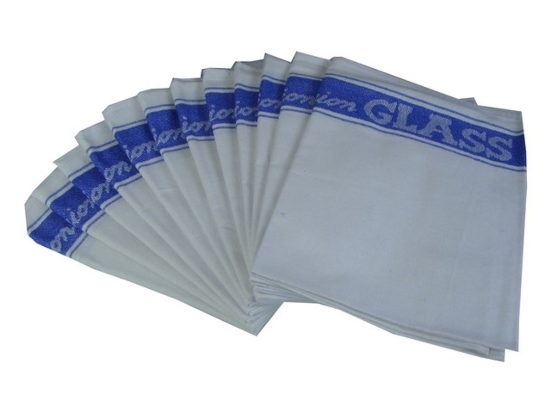 Lotto 10151 - Brand New Pack of Twelve Linen Union Glass Cloths (As used by all the best professional barman)