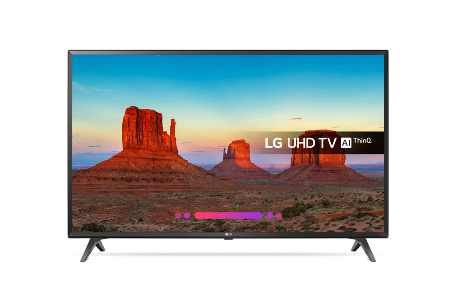 Lotto 30020 - V Grade A LG 43 Inch ACTIVE HDR 4K ULTRA HD LED SMART TV WITH FREEVIEW HD & WEBOS 4.0 & WIFI - AI TV