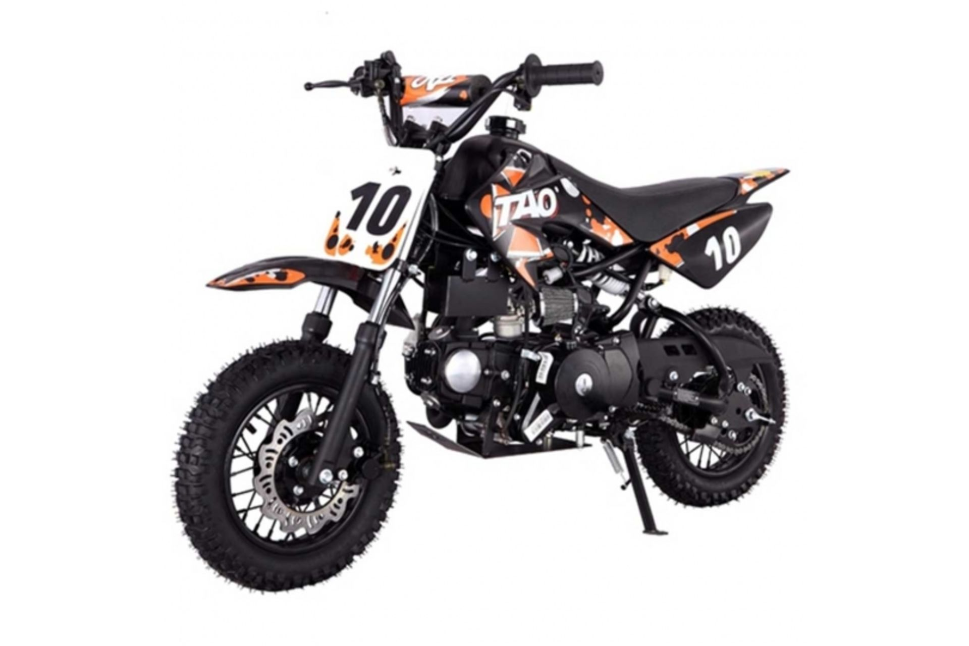 Lot 23024 - V Brand New 110cc USA Motocross Mini Dirt Bike - Electric Start - Air Cooled 4 Stroke -