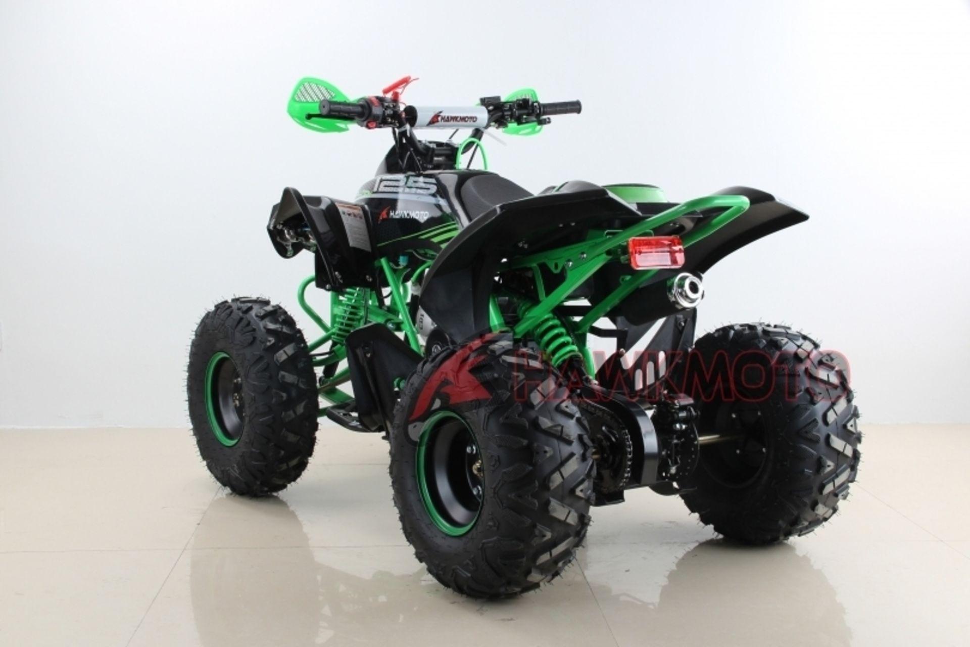 "Lot 23508 - V Brand New 125cc Mega Raptor Off Road Sports Quad Bike With ""Fat Boi"" Off Road Wheels - Electric"