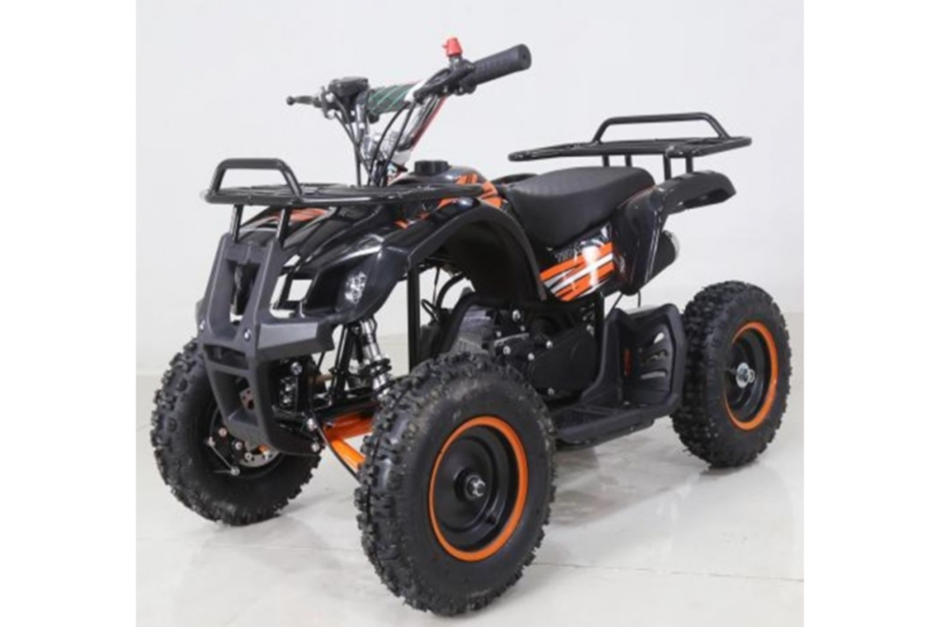 Lot 23502 - V Brand New 50cc Mini Quad Bike FRM - Colours May Vary - Available Approx 7 Working Days After
