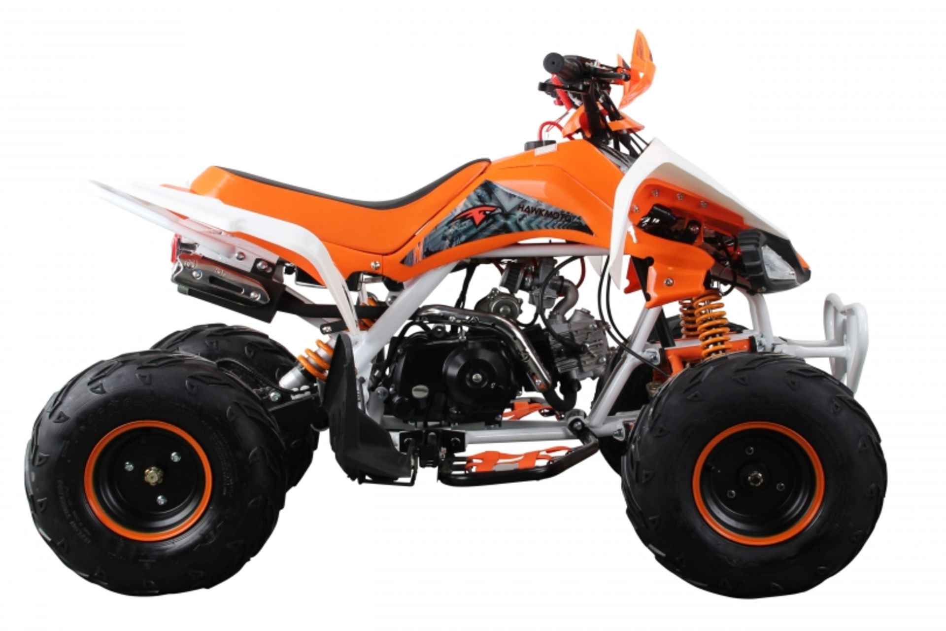 Lot 23021 - V Brand New 125cc Interceptor SV2 4 Stroke Quad Bike With Reverse Gear - Double Front Suspension/