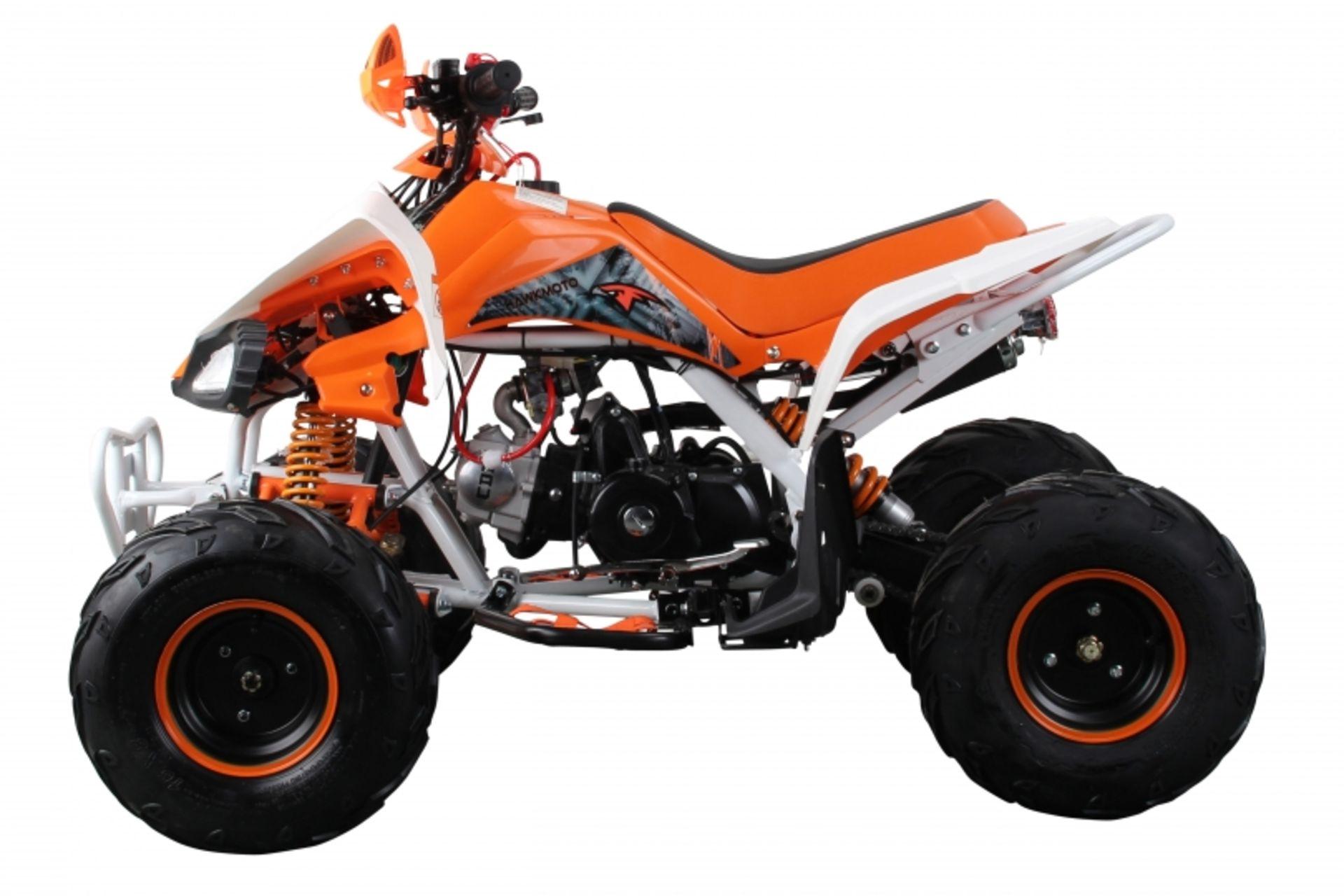 Lot 23532 - V Brand New 125cc Interceptor SV2 4 Stroke Quad Bike With Reverse Gear - Double Front Suspension/