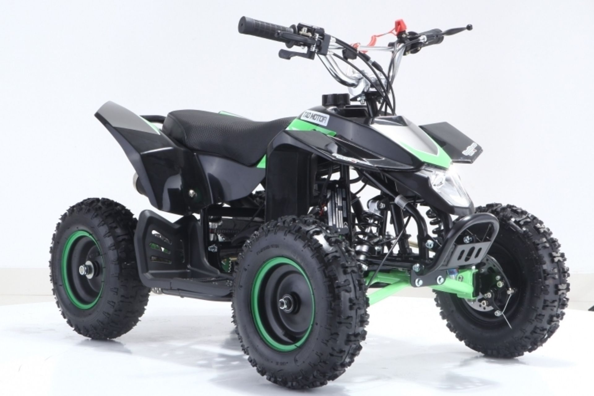 Lot 23006 - V Brand New 50cc Avenger Mini Off Road Quad Bike - Green & Black or White & Orange - Air Cooled -