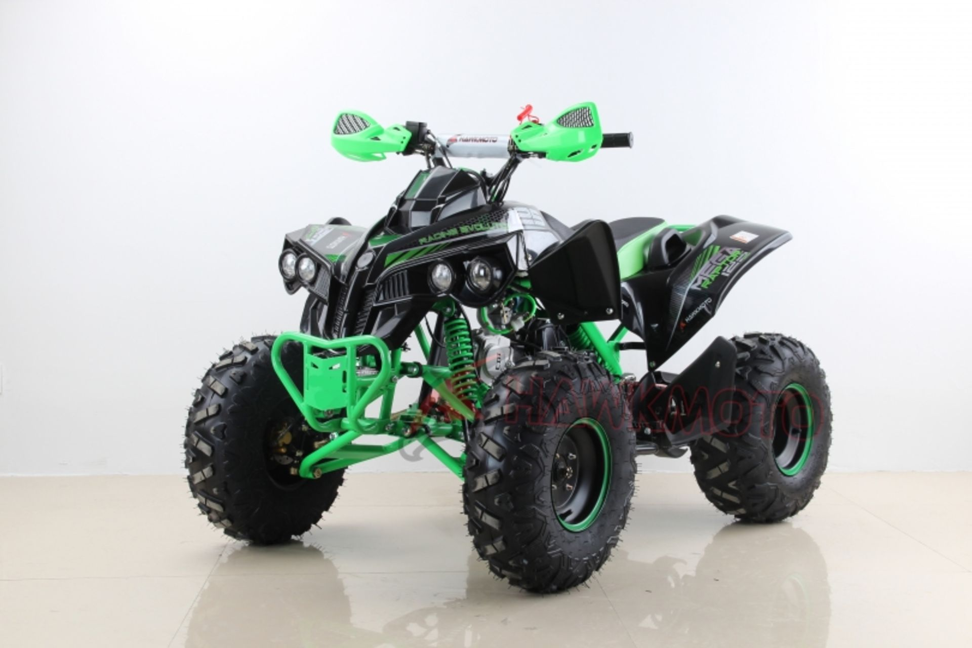 "Lot 23507 - V Brand New 125cc Mega Raptor Off Road Sports Quad Bike With ""Fat Boi"" Off Road Wheels - Electric"