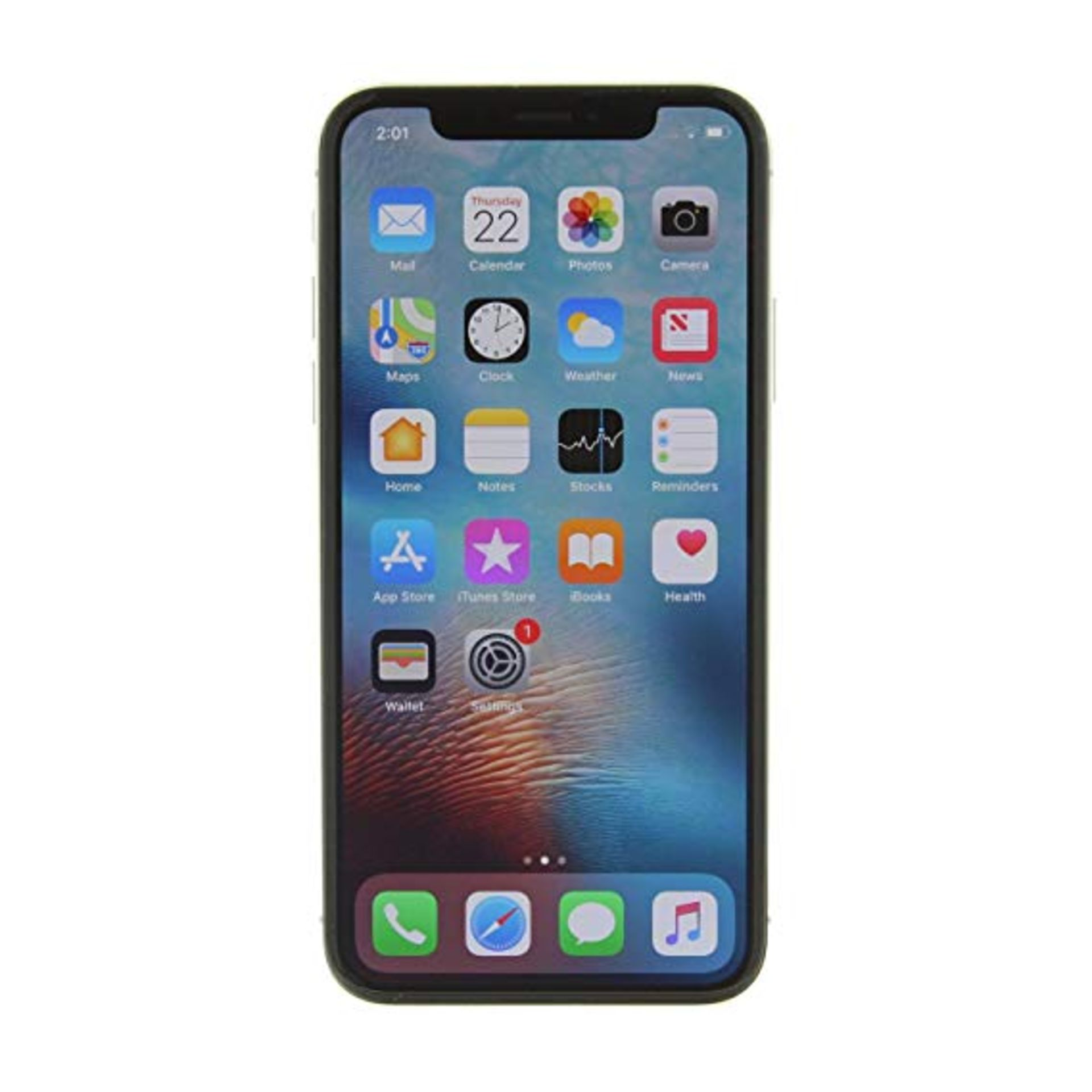 Lot 31656 - Grade A Apple iphone X 64GB Colours May Vary No Face ID Item available approx 12 working days after