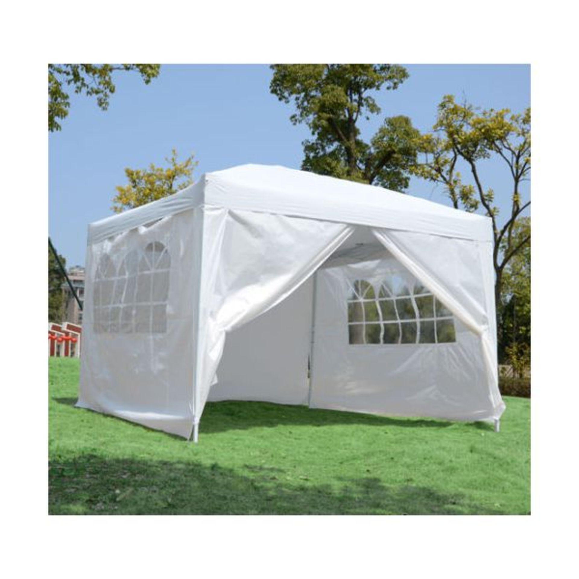 Lot 32047 - V Brand New DG Pop Up Gazebo With Side Panels 3m x 3m ISP £119.99 (Gala Tent)