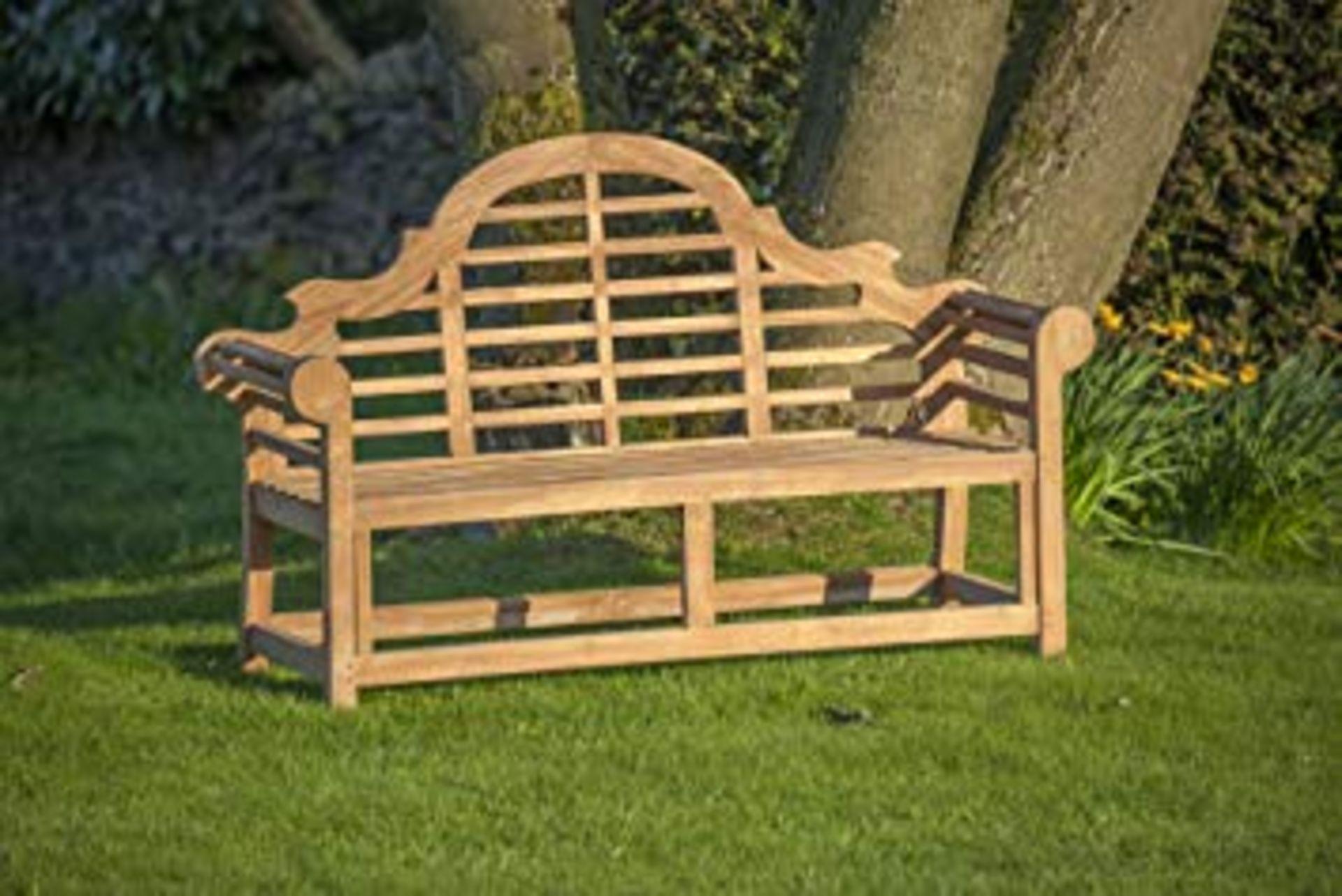 Lot 32037 - V Brand New Teak - Solid Teak Lutyens Style Marlborough Bench Made From Grade A Plantation Teak (ISP
