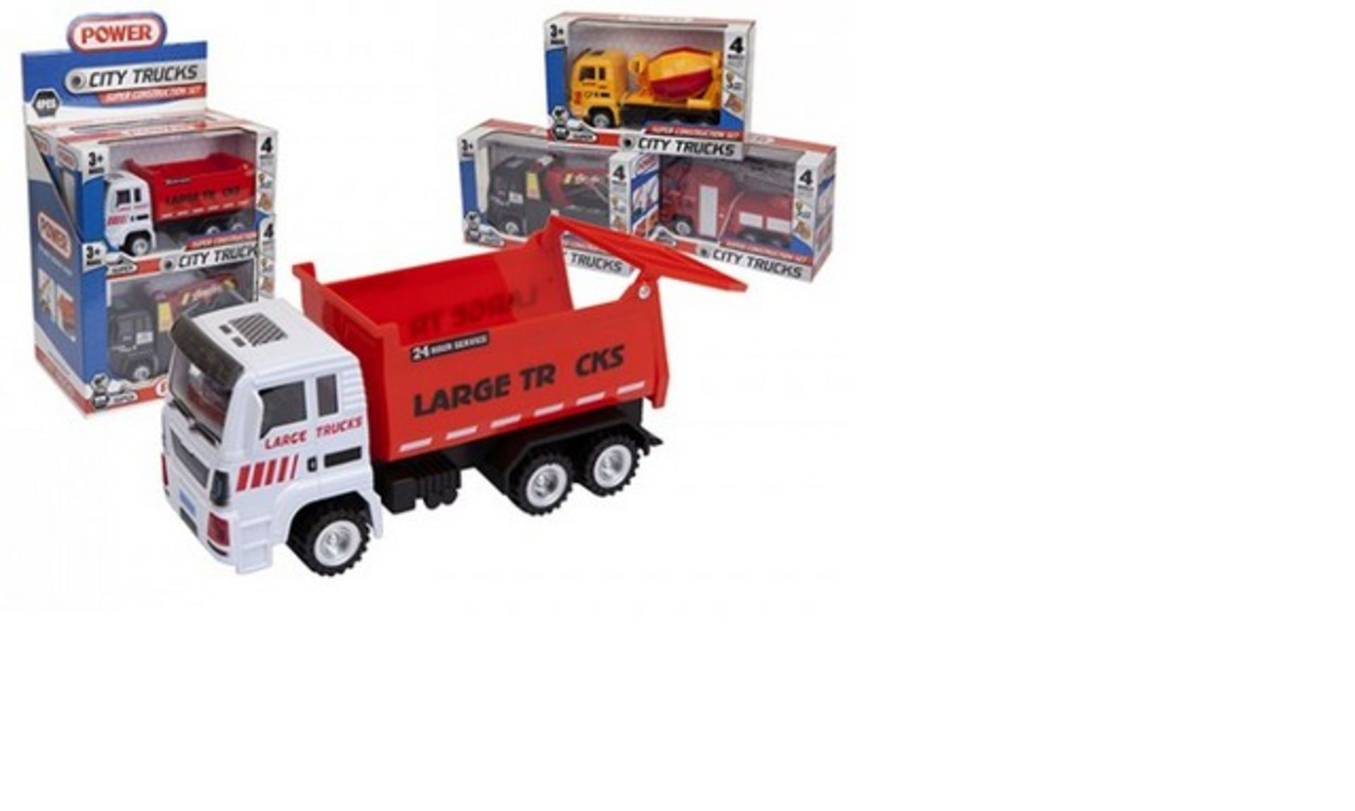 Lot 30378 - V Brand New Friction Construction Truck For Ages 3+ (Model/Colour May Vary)