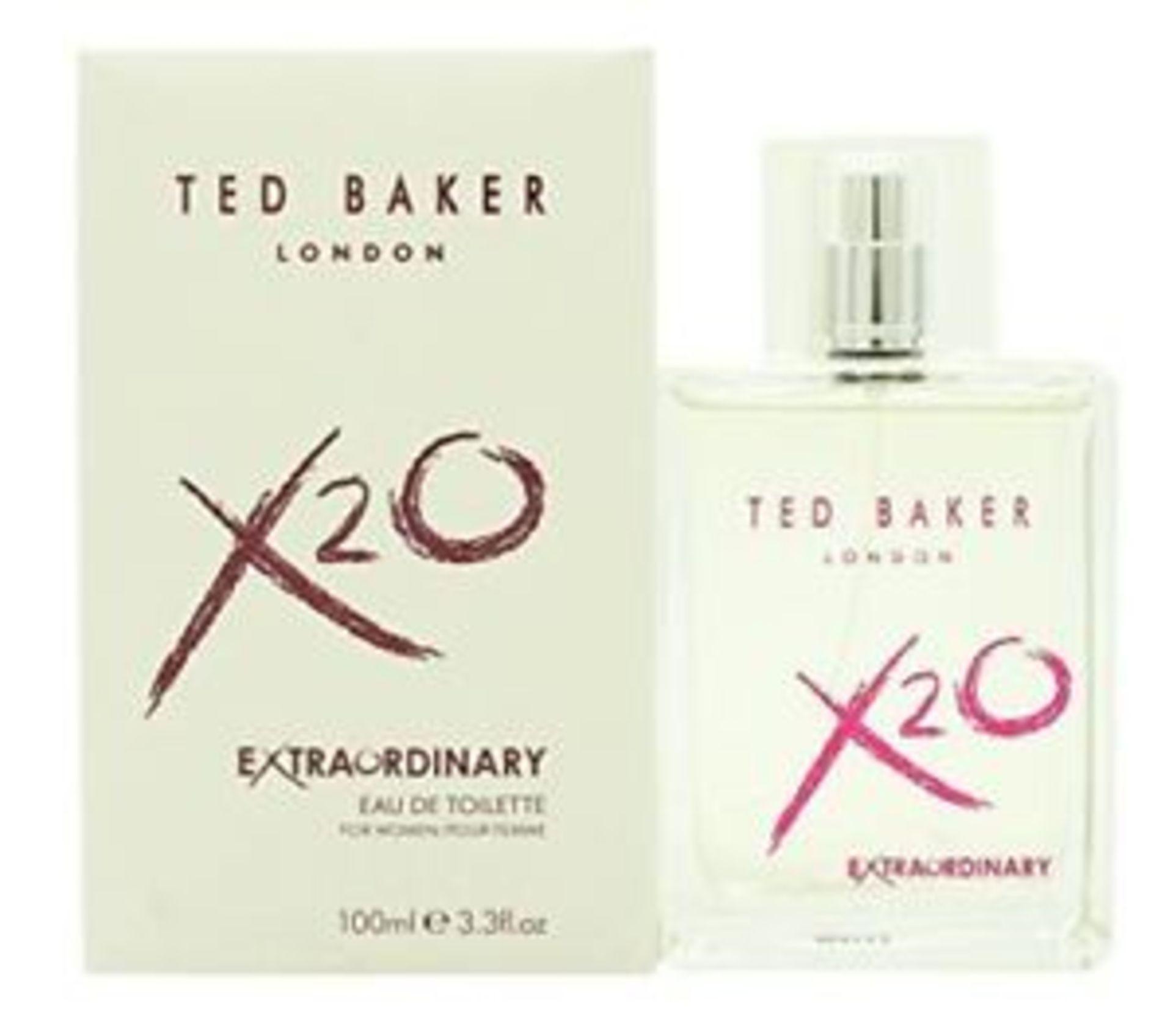 Lot 51592 - V Brand New 100ml Ted Baker London X20 Extraordinary Eau De Toilette Pour Femme ISP £26.24 (Ebay)