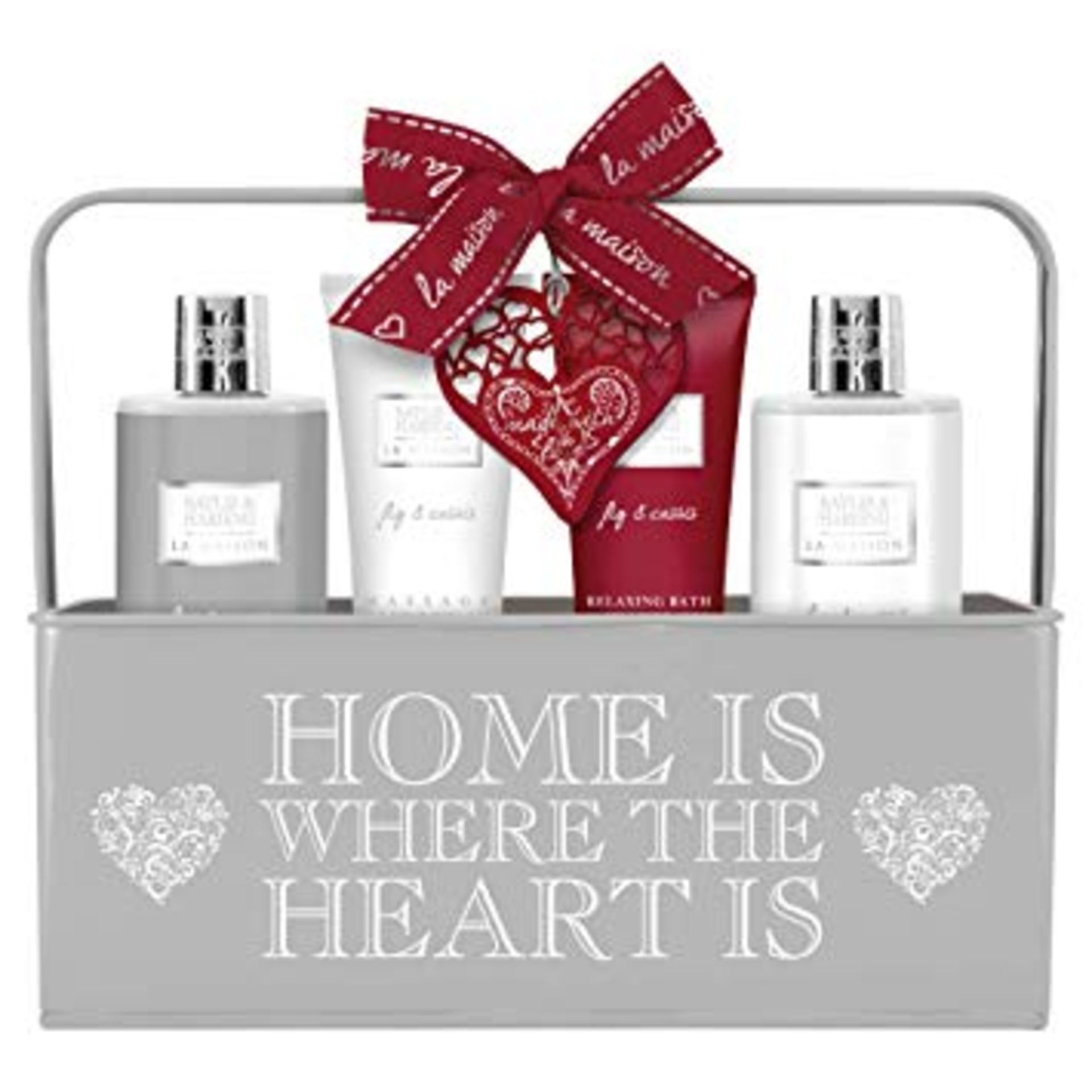Lot 51517 - V Brand New Baylis & Harding Home Is Where The Heart Is La Maison Fig & Cassis Gift Set ISP £23.