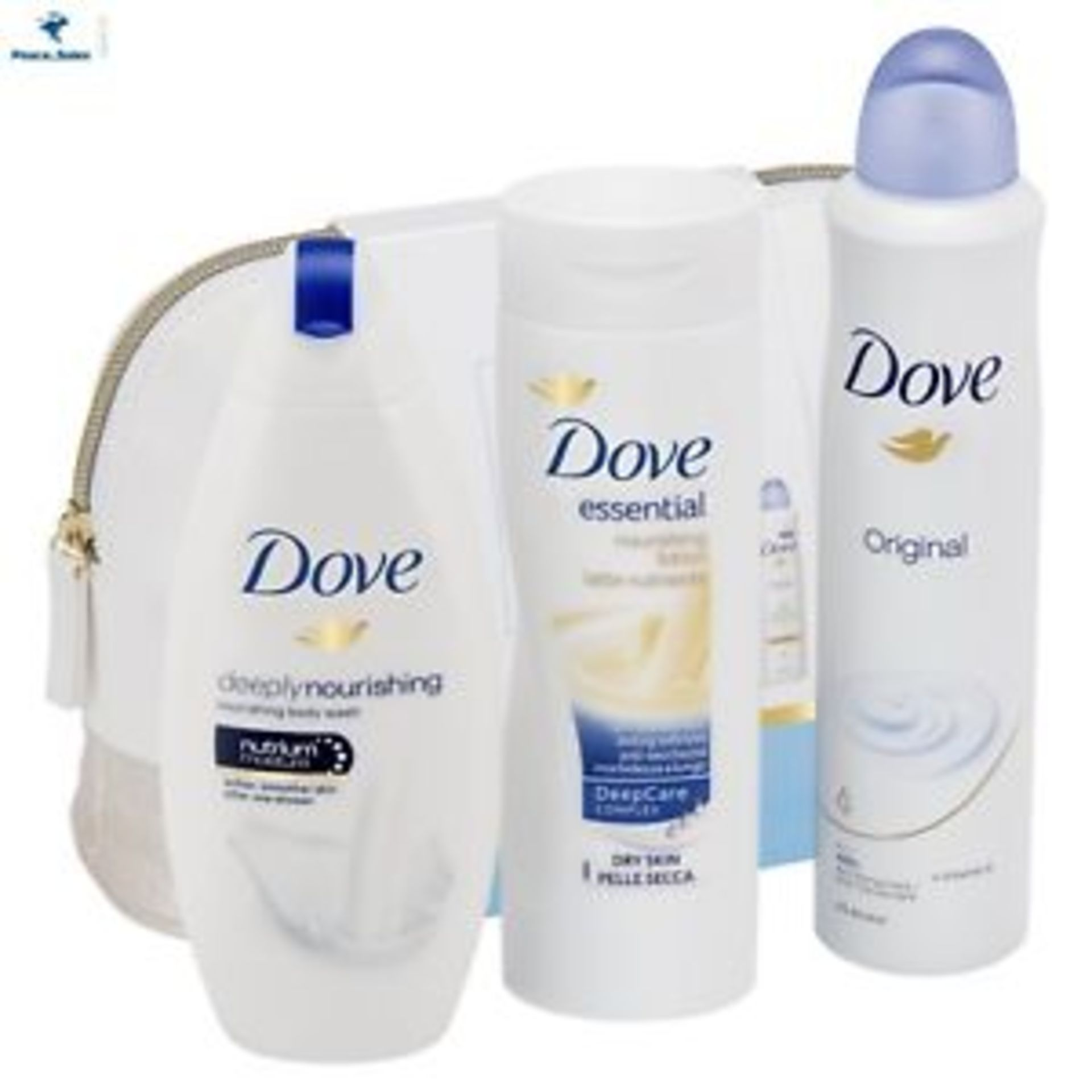 Lot 51513 - V Brand New Dove Beauty Collection Washbag Gift Set Inc 250ml Nourishing Body Wash - 250ml Essential