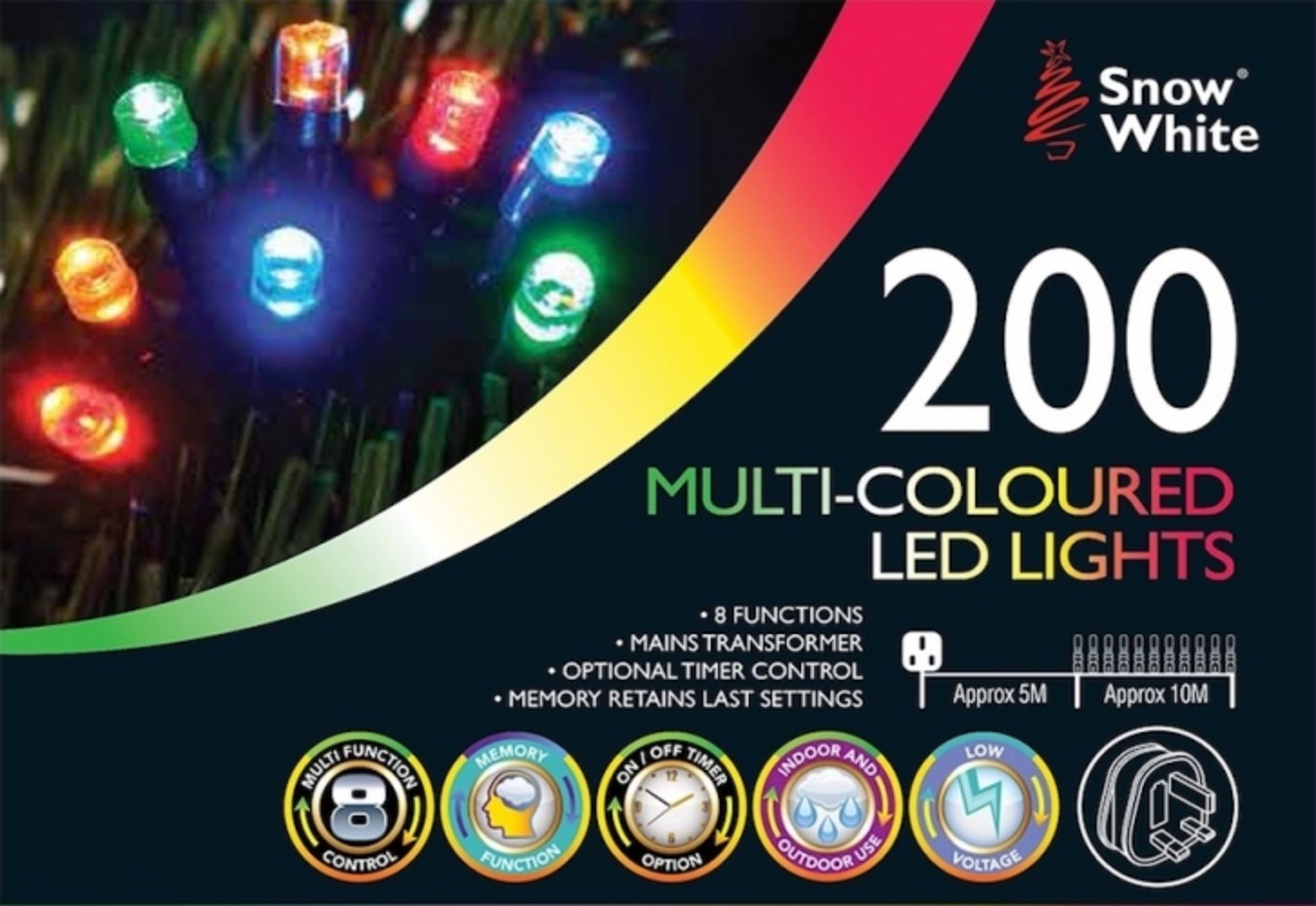 Lot 52612 - V Brand New Two Hundred Multi Coloured Multi Function Mains Operated LED Lights