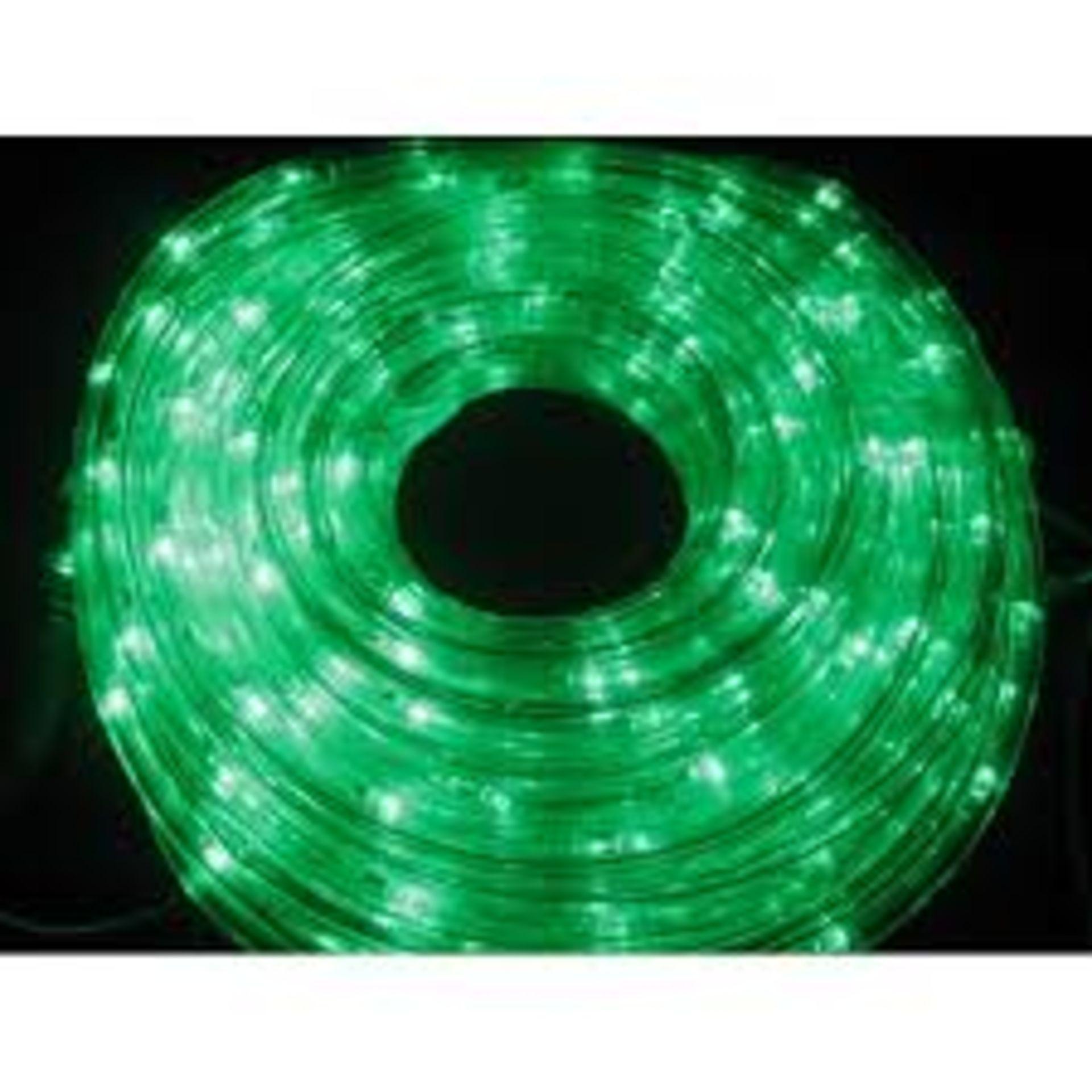 Lot 50117 - V Brand New 20M Multi Function Green LED Rope Light