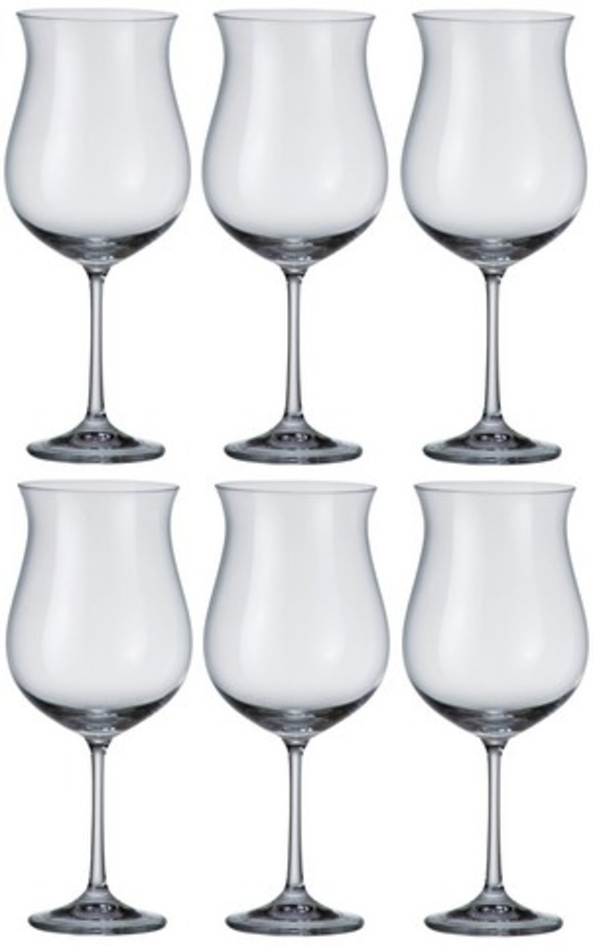 Lot 50077 - V Brand New Pack of Six 640ml Red Wine Glasses - Large Sized Bowl - Dishwasher Safe - Durable
