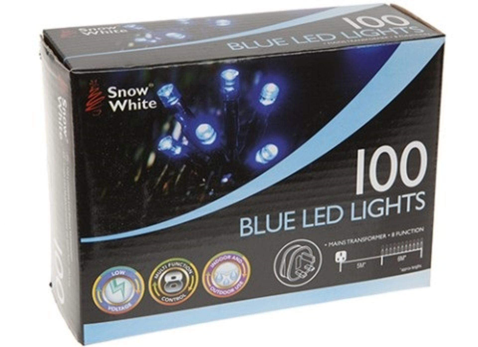 Lot 52620 - V Brand New 100 Blue LED Lights - Mains Transformer - Eight Function
