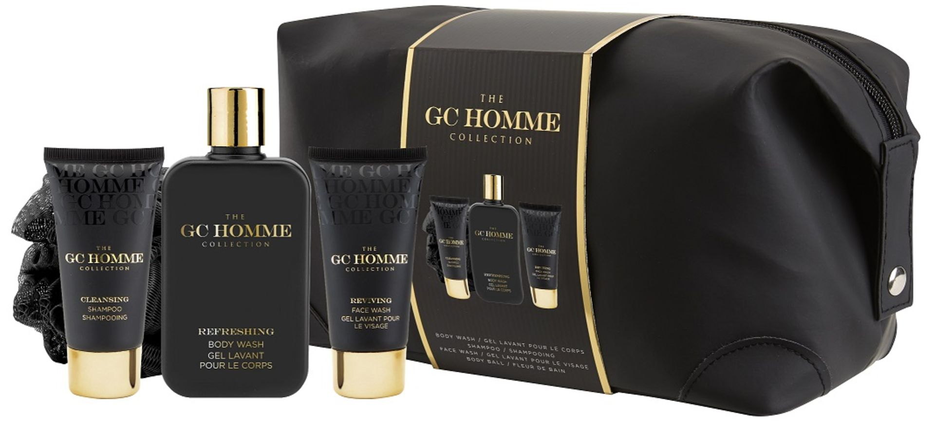 Lot 51553 - V Brand New Grace Cole Captivate GC Homme Collection Toiletry Bag Containing Body Wash - Shampoo -