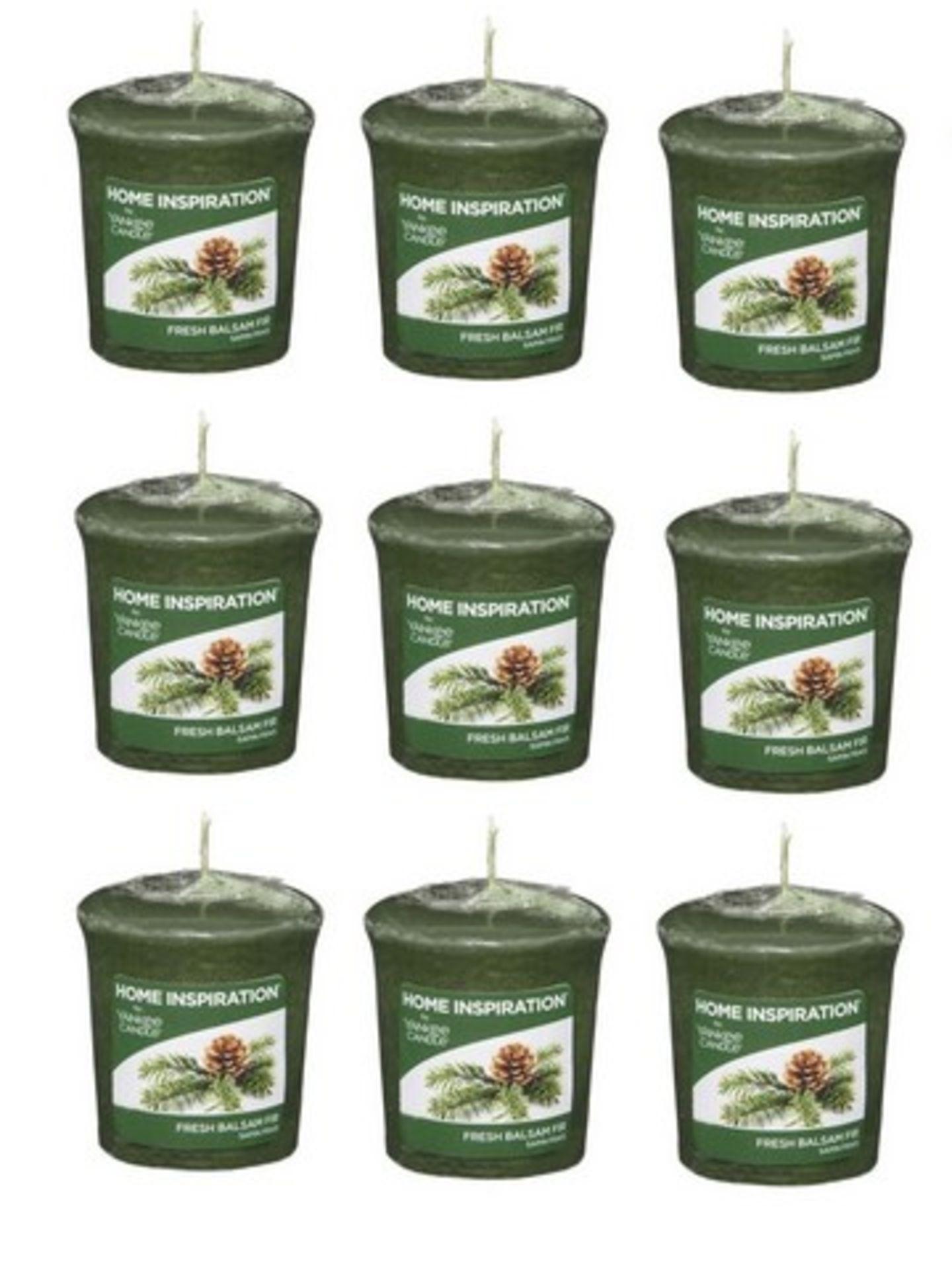 Lot 51504 - V Brand New 9 x Yankee Candle Votive Fresh Balsam Fir - Internet Price £17.91 (Thestore91)